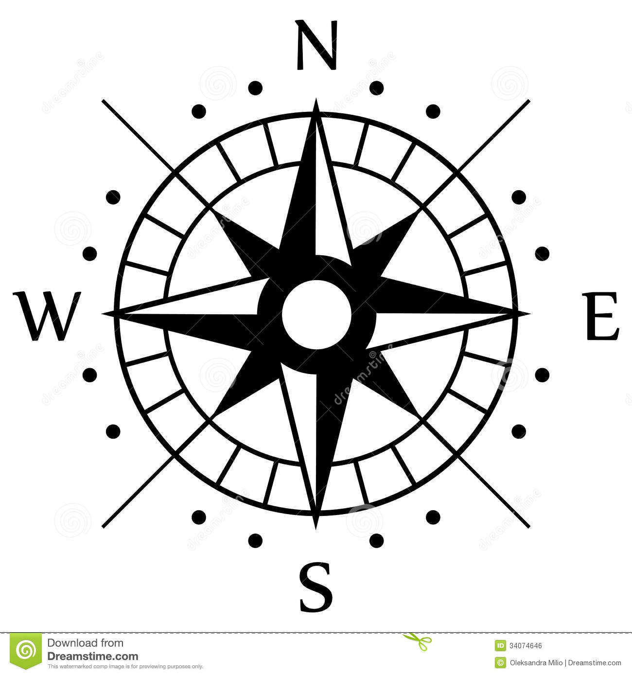 Black Compass Symbol Stock Vector Illustration Of Background 34074646