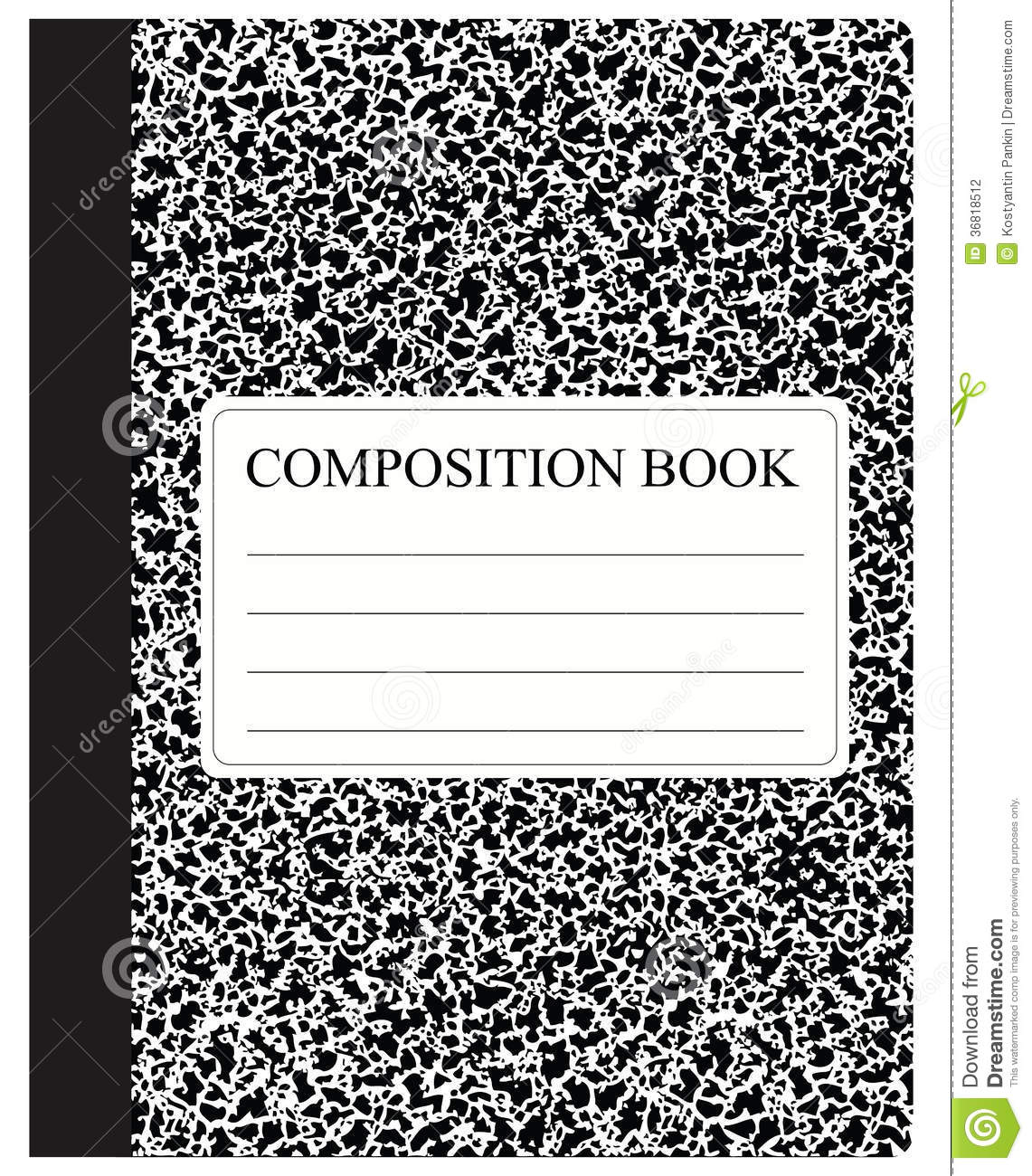 General Studies custom composition book