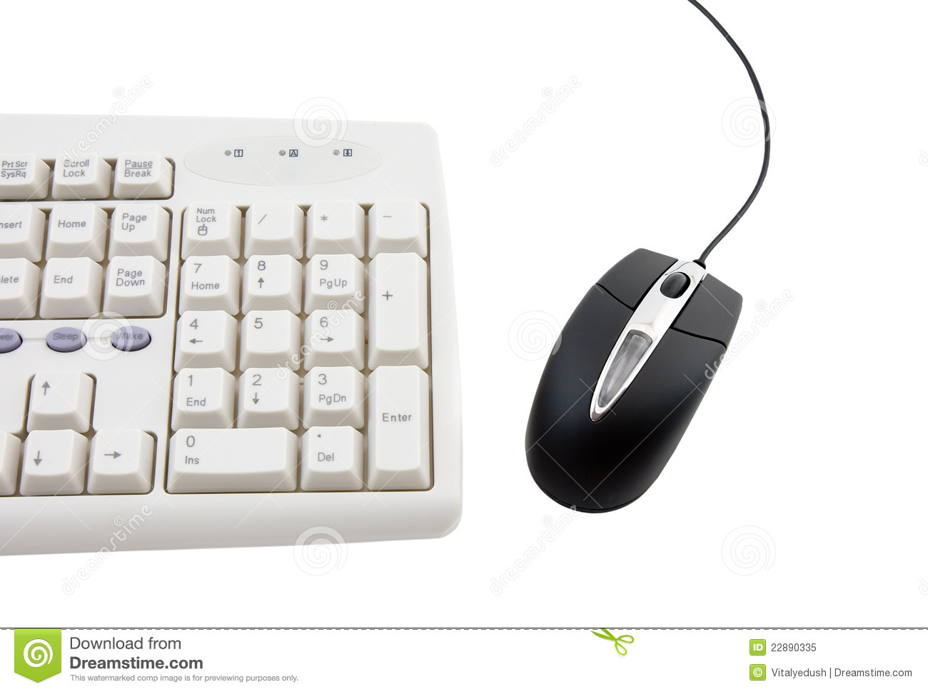 Black Computer Mouse And Part Of Keyboard Royalty Free