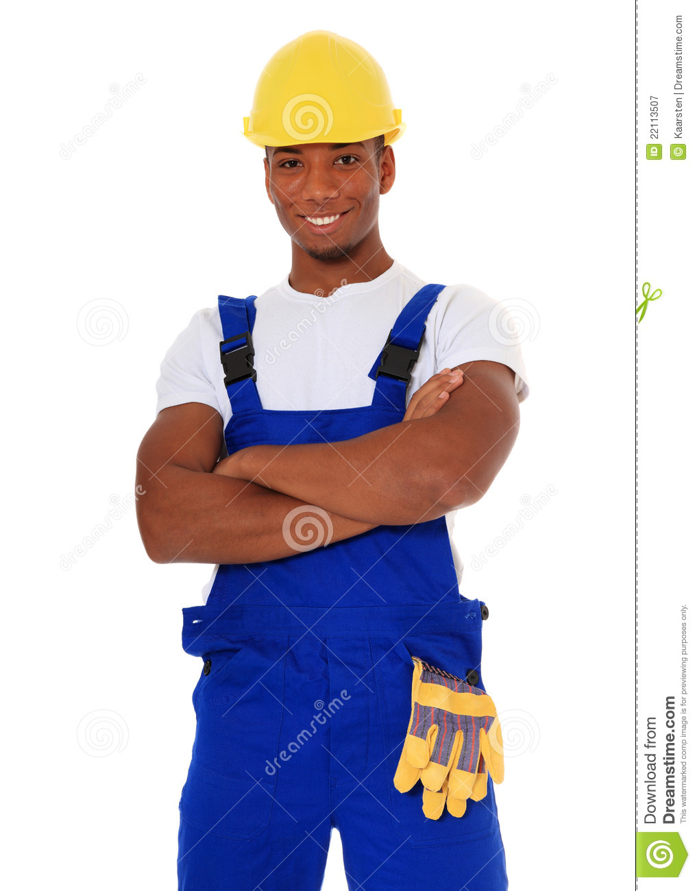 Black Construction Worker Royalty Free Stock Photography - Image ...