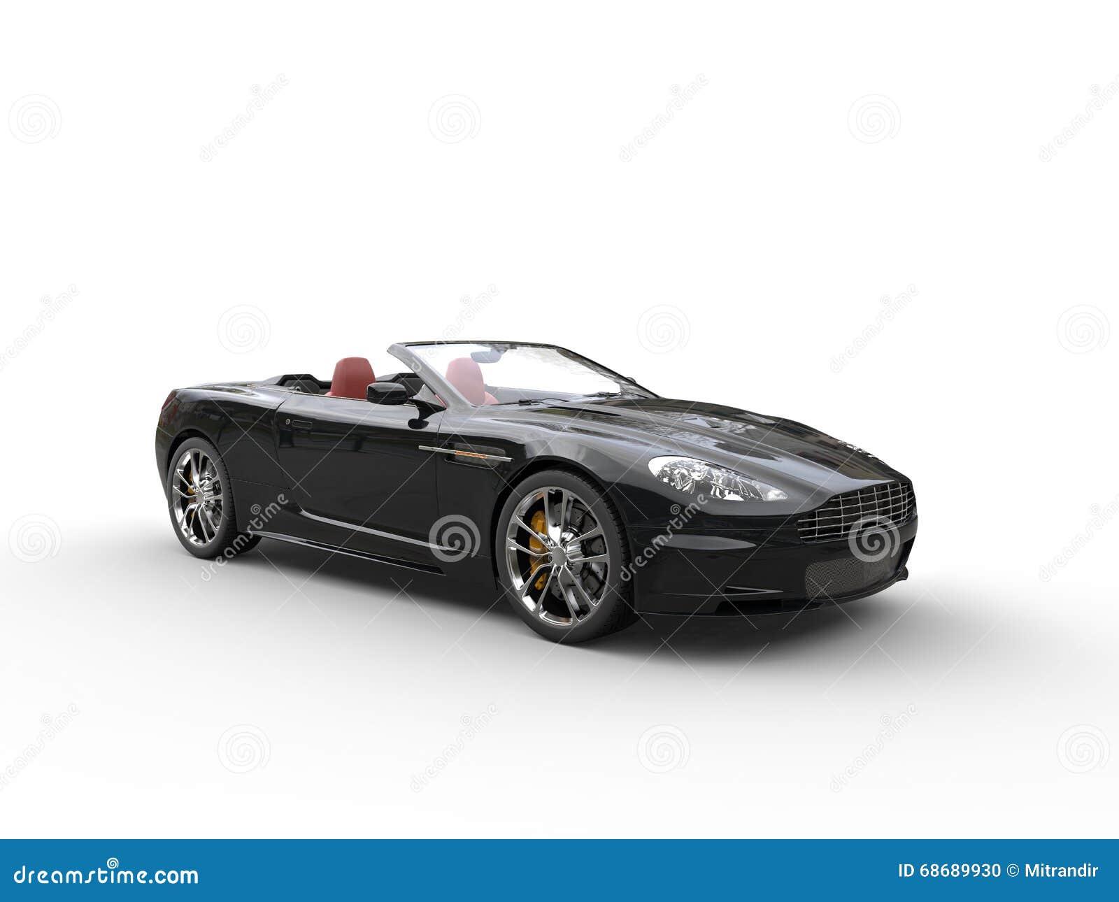 Black convertible sports car - studio shot