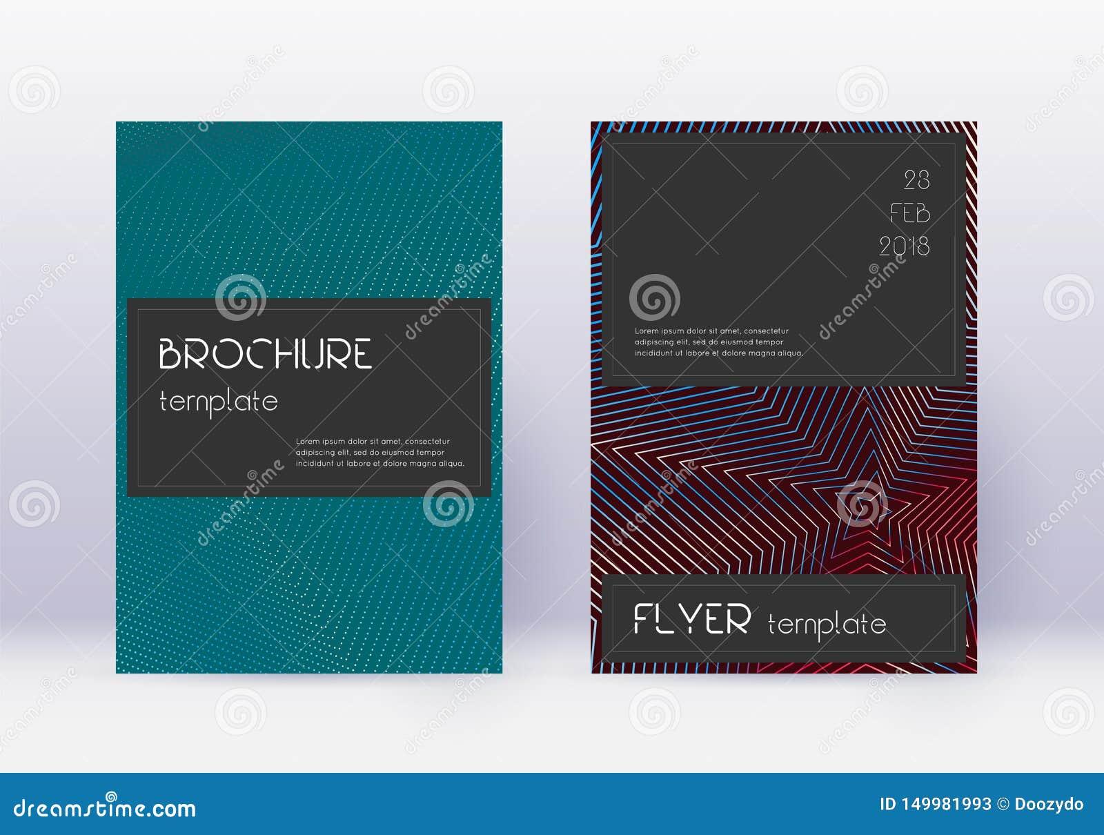 Black cover design template set.