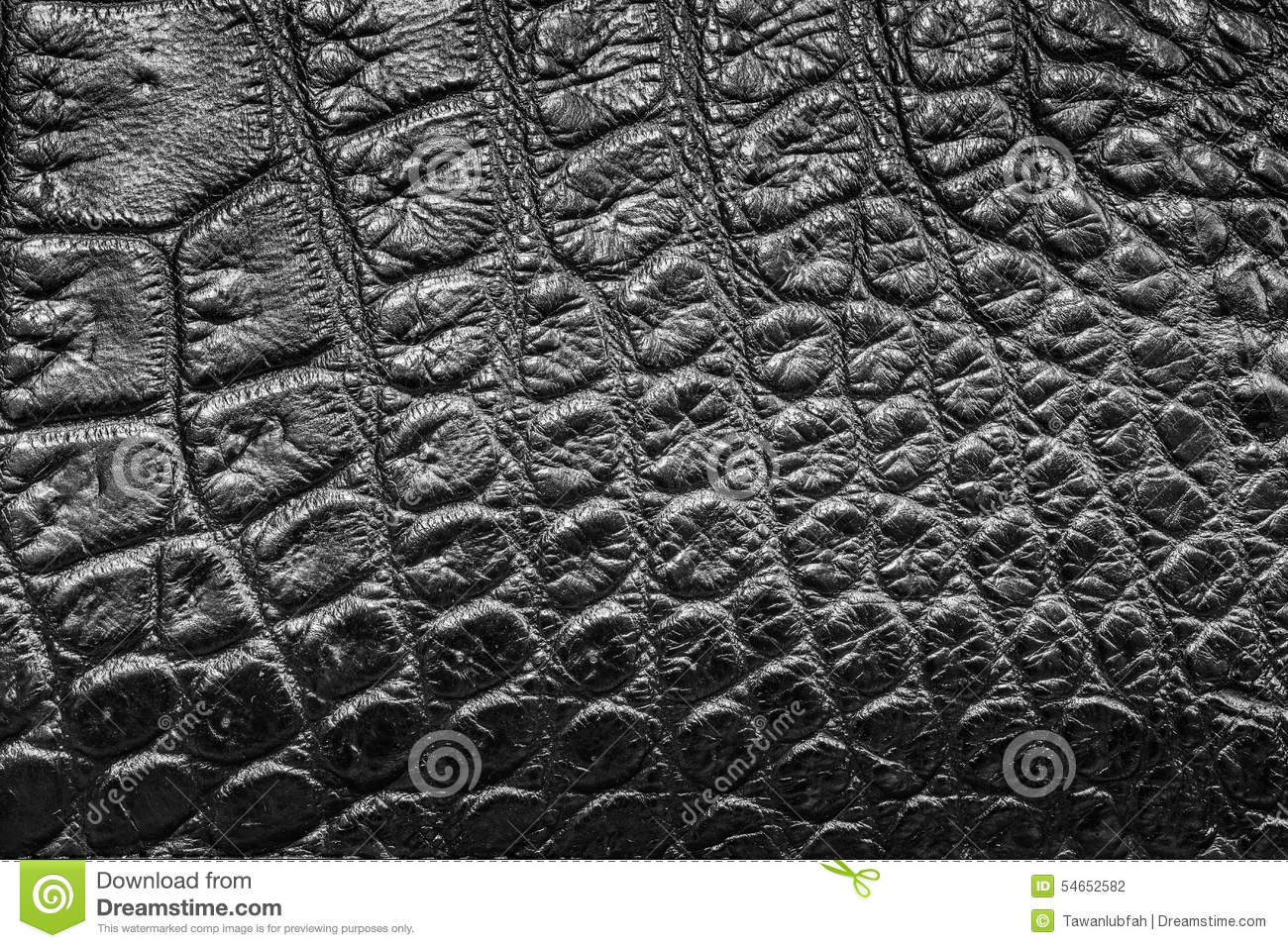 Black Crocodile Leather Background Texture Stock Photo ...