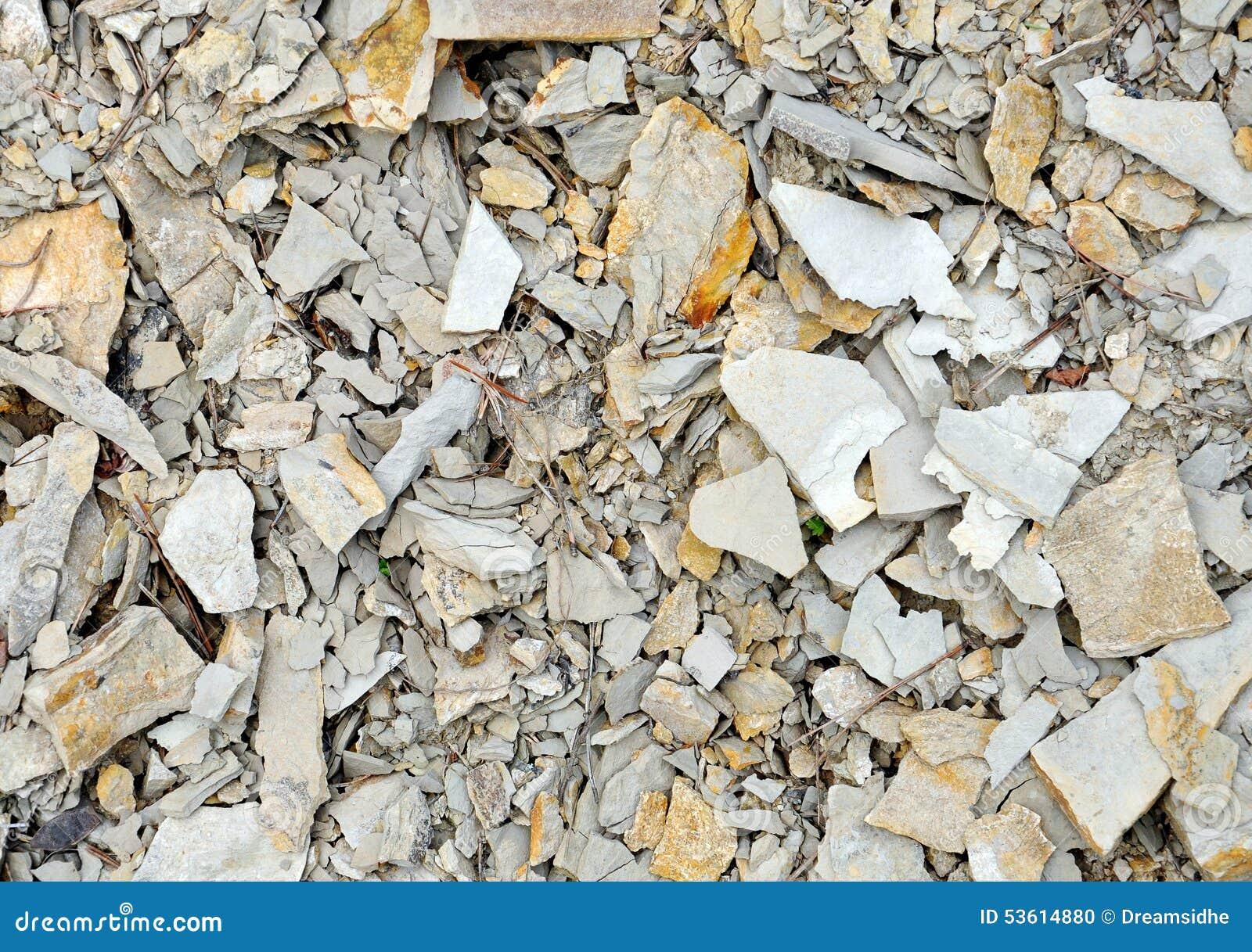 Black Crushed Rock : Black crushed stone stock photo image