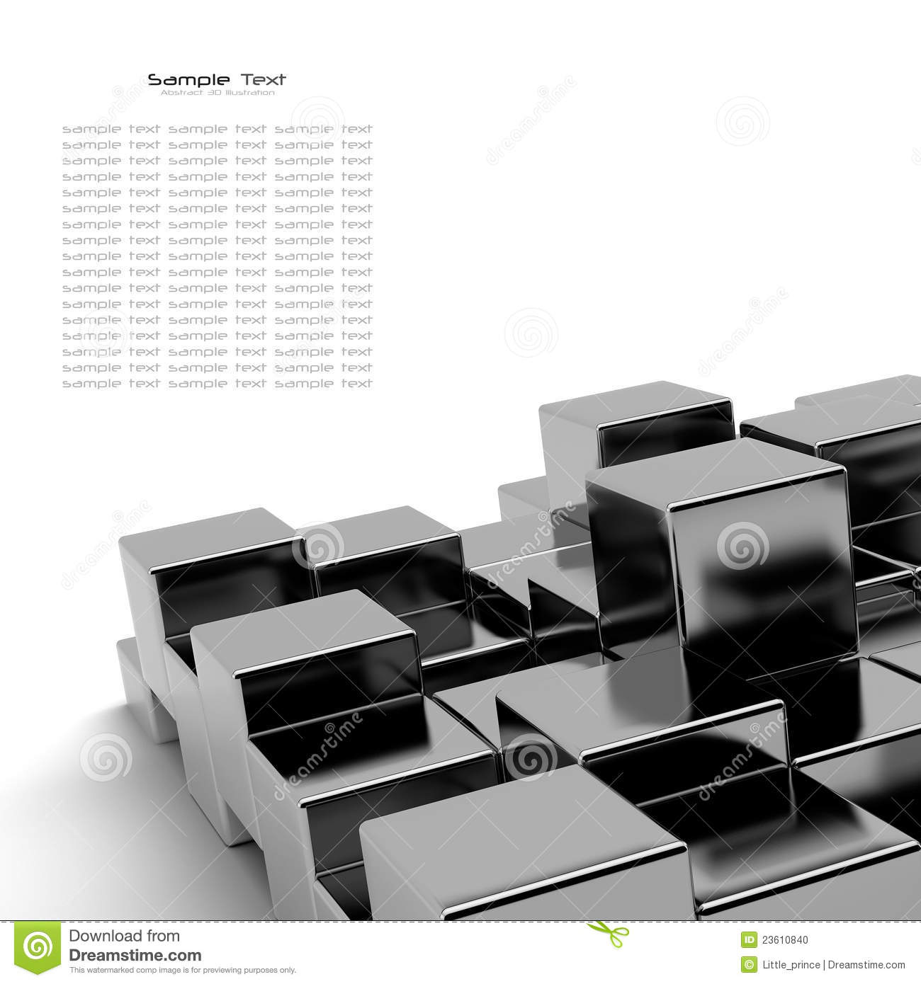 Black cubes abstract background