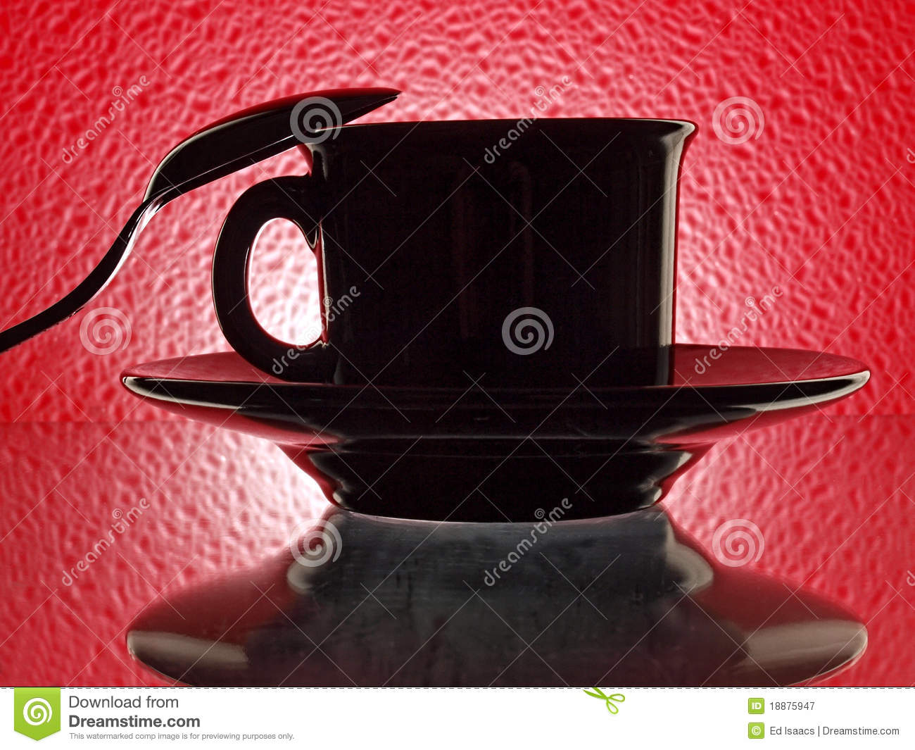 Black Cup, Saucer snd Spoon