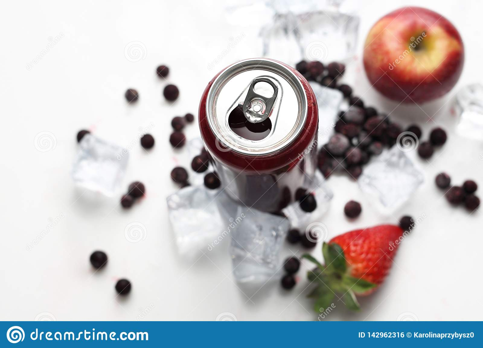 Black currant cocktail, refreshing healthy juice diet. Cold drink.