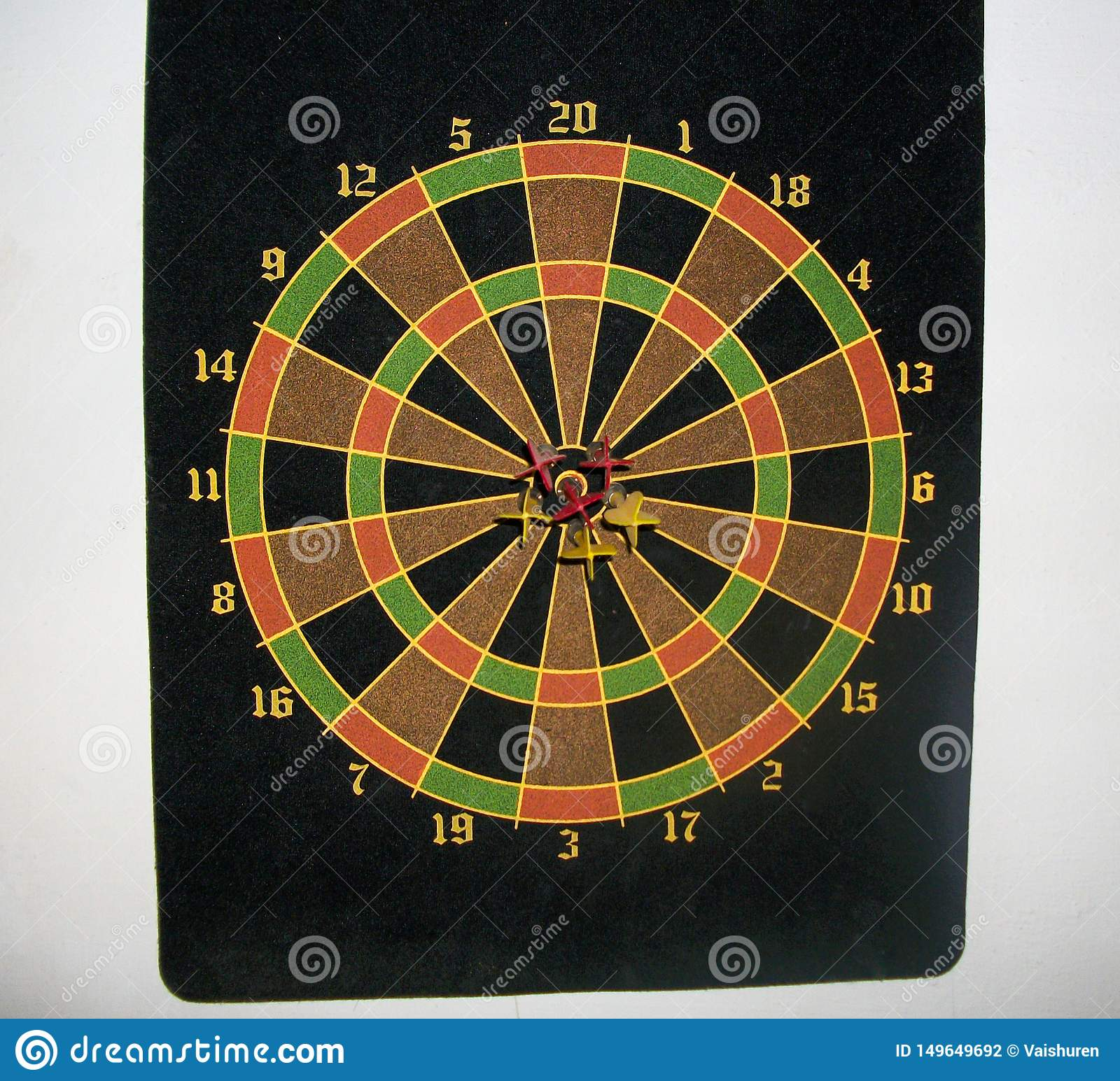 black dart board with bulls eye
