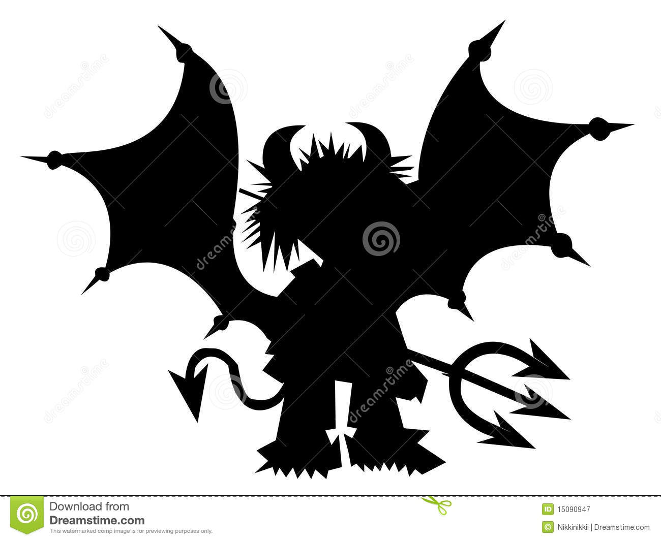 Black Devil With Trident Royalty Free Stock Photography - Image ...