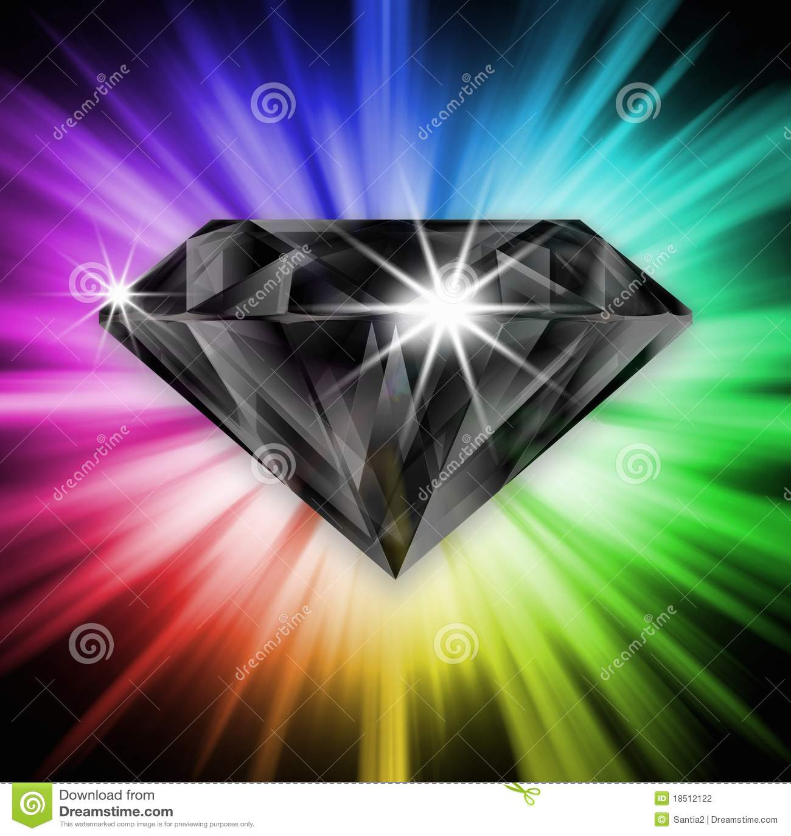 Black diamond over rainbow