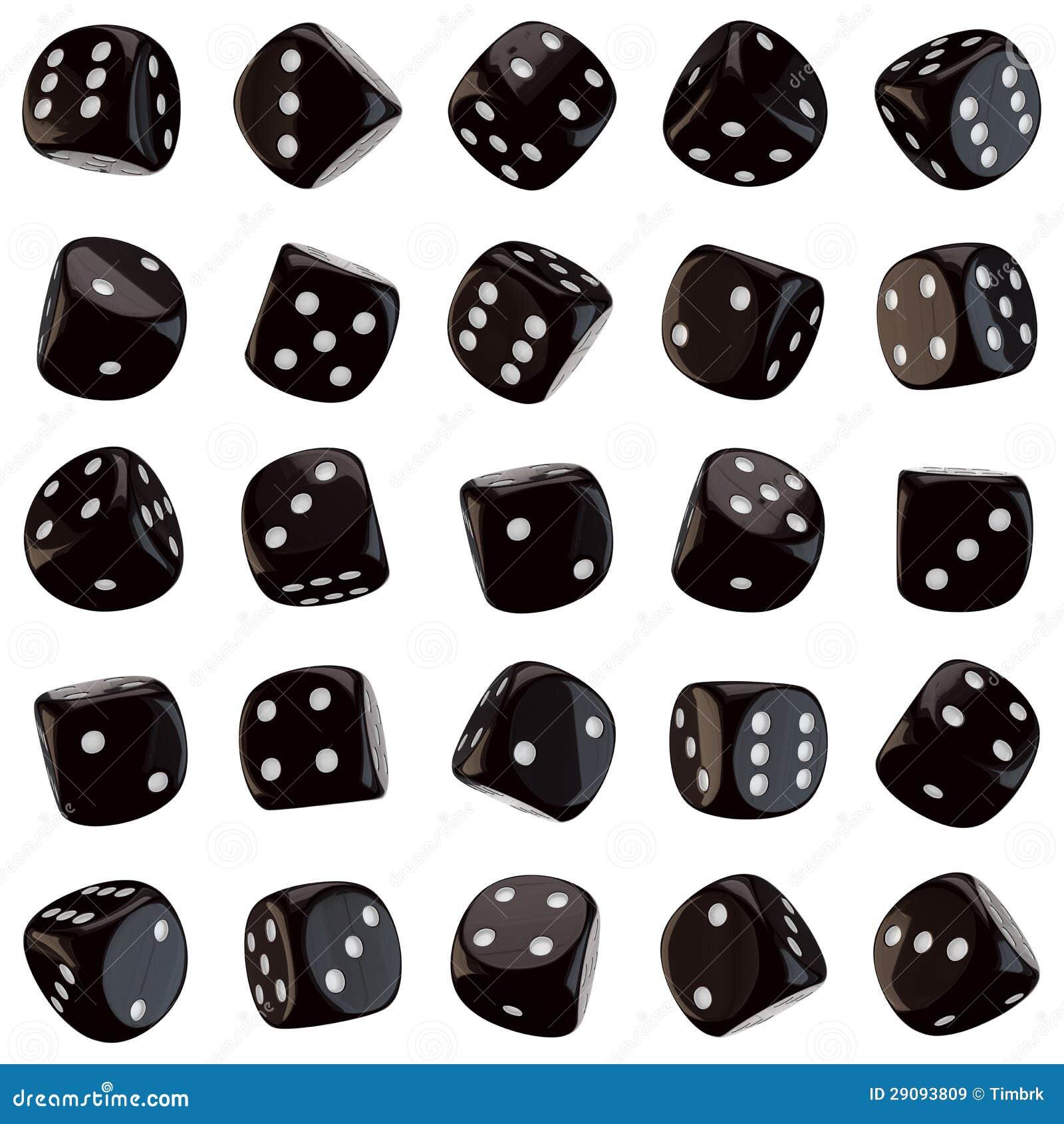 black dice icons stock illustration illustration of dots 29093809