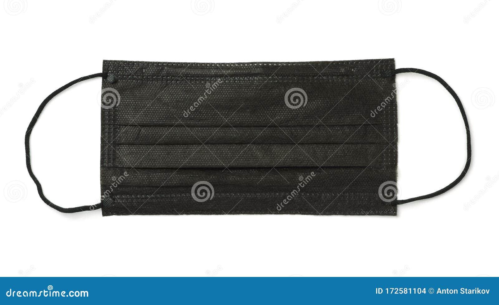 black disposable medical mask
