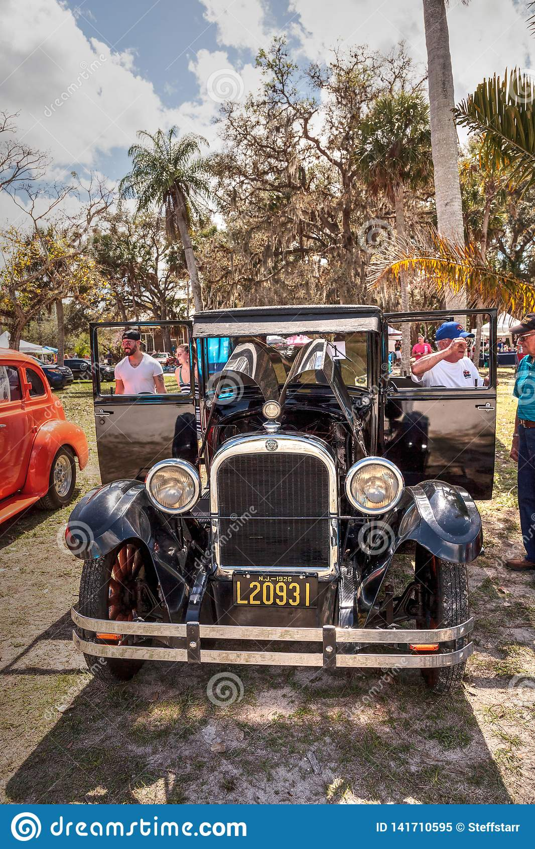 Black 1929 Dodge Brothers Model B at the 10th Annual Classic Car and Craft Show