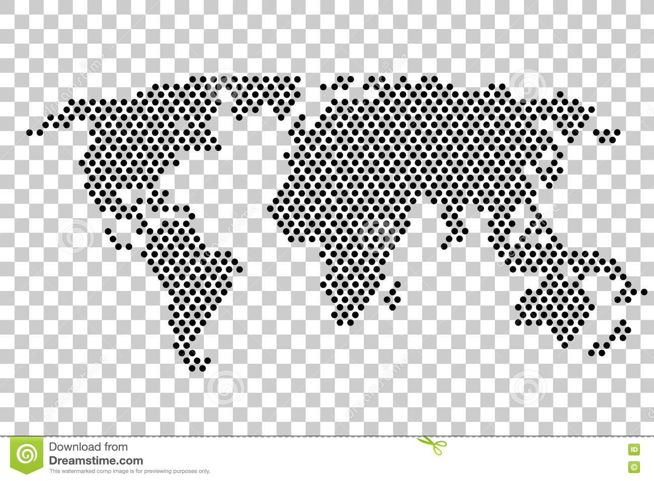 Black dot world map at transparent effect background illustration black dot world map at transparent effect background gumiabroncs Images