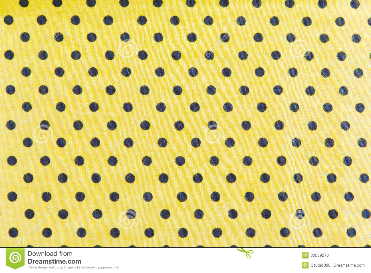 Black Dots On Yellow Background Stock Photo - Image of circles ...