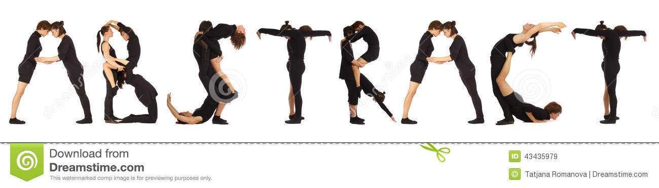 Black Dressed People Forming ABSTRACT Word Stock Photo ...