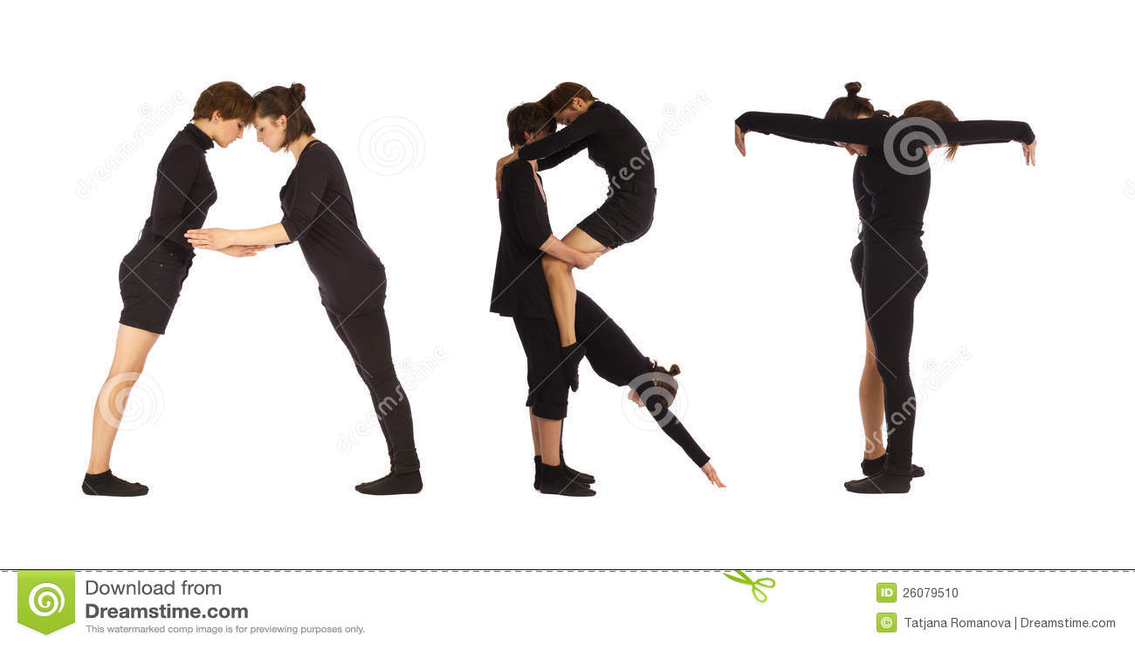 Black Dressed People Forming ART Word Stock Photo - Image: 26079510
