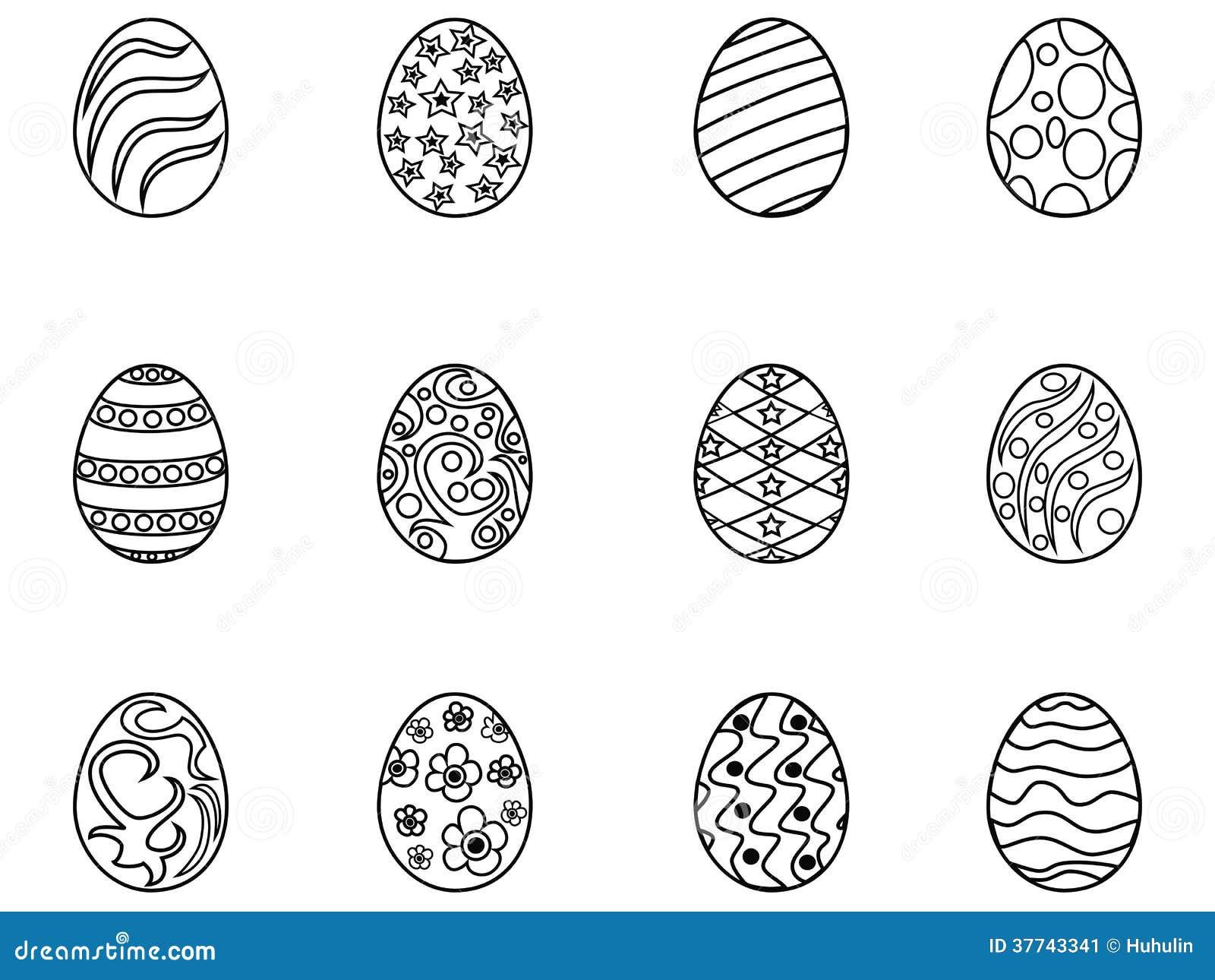 Black easter egg outline
