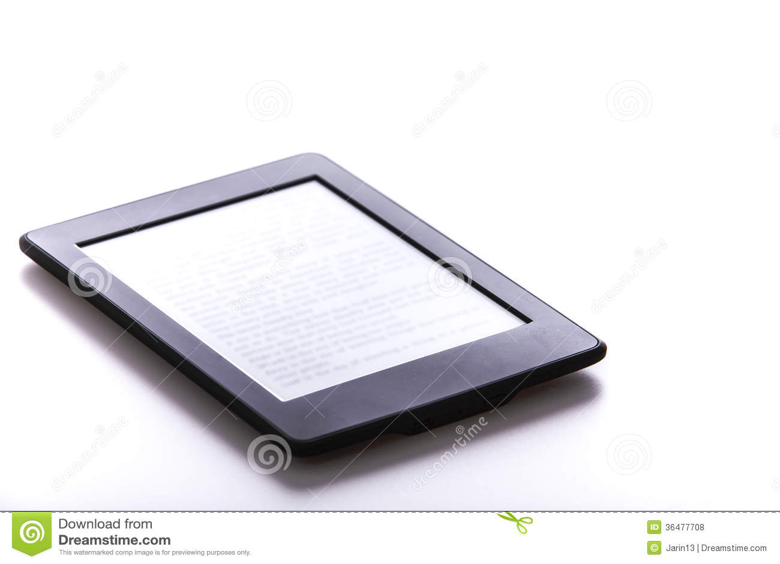 black ebook reader or tablet stock photo image 36477708. Black Bedroom Furniture Sets. Home Design Ideas