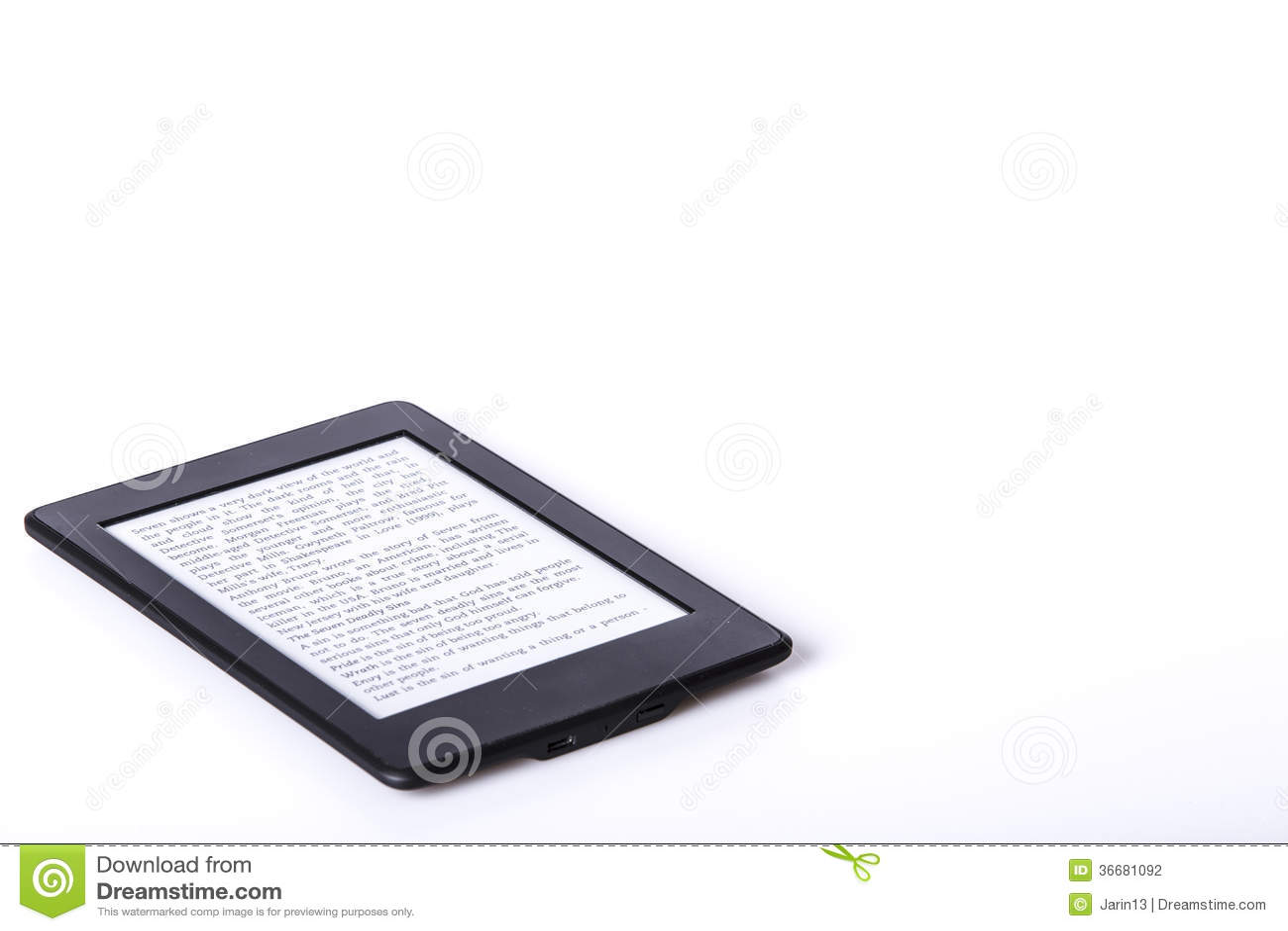 black ebook reader or tablet stock photography 36681092. Black Bedroom Furniture Sets. Home Design Ideas