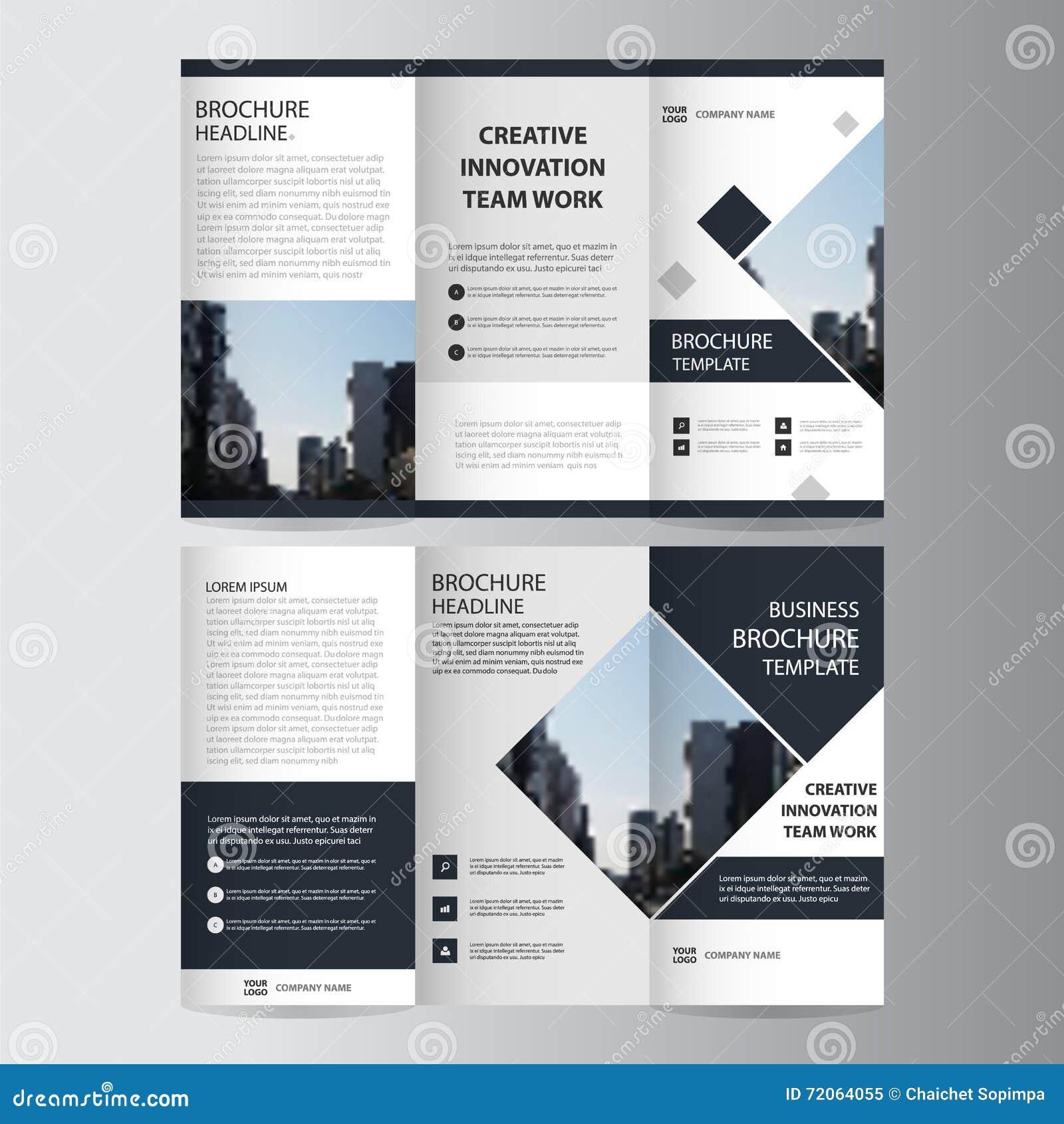 Black Elegance Business Trifold Leaflet Brochure Flyer Template ...