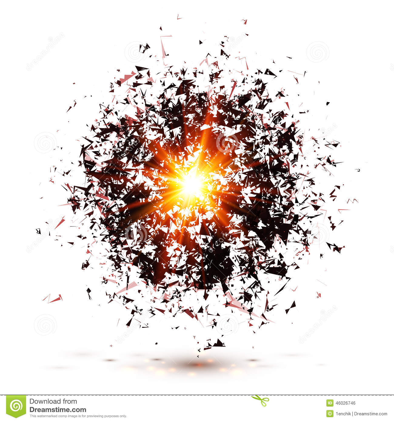 Black Explosion... Explosion White Background