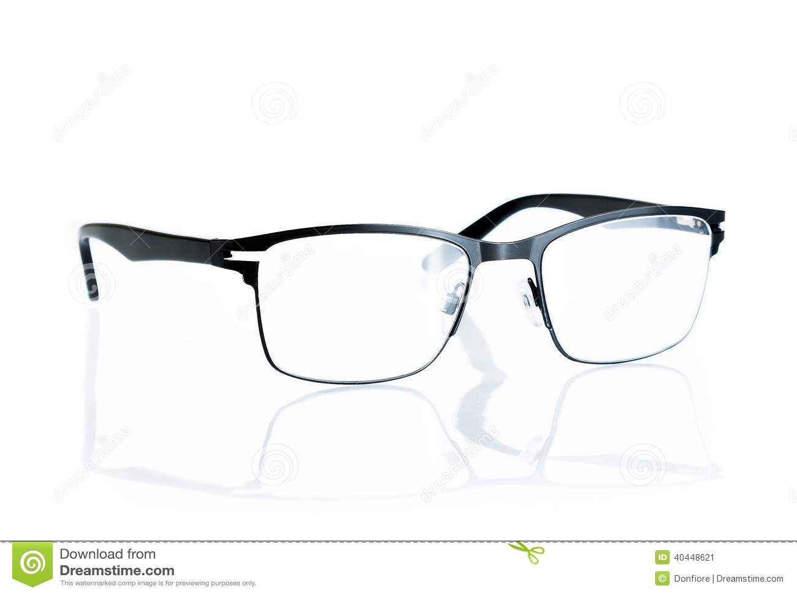 Black eye glasses isolated