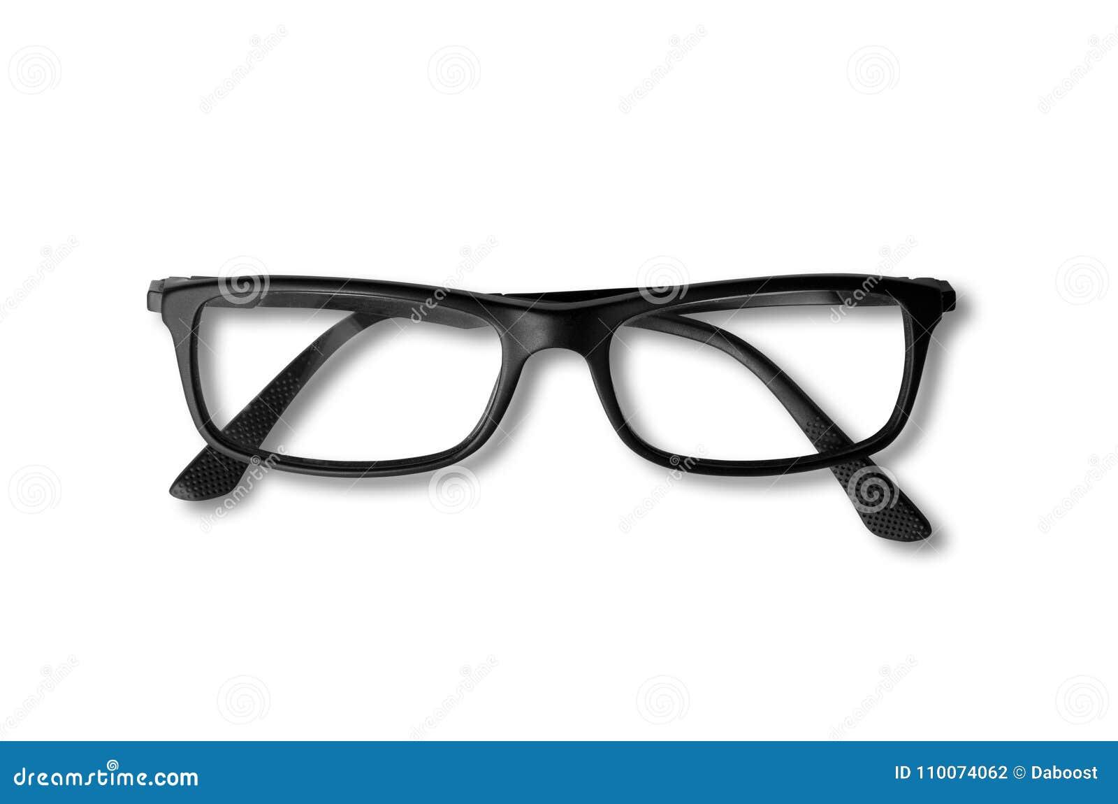 Black Glasses Isolated On White Stock Photo Image Of