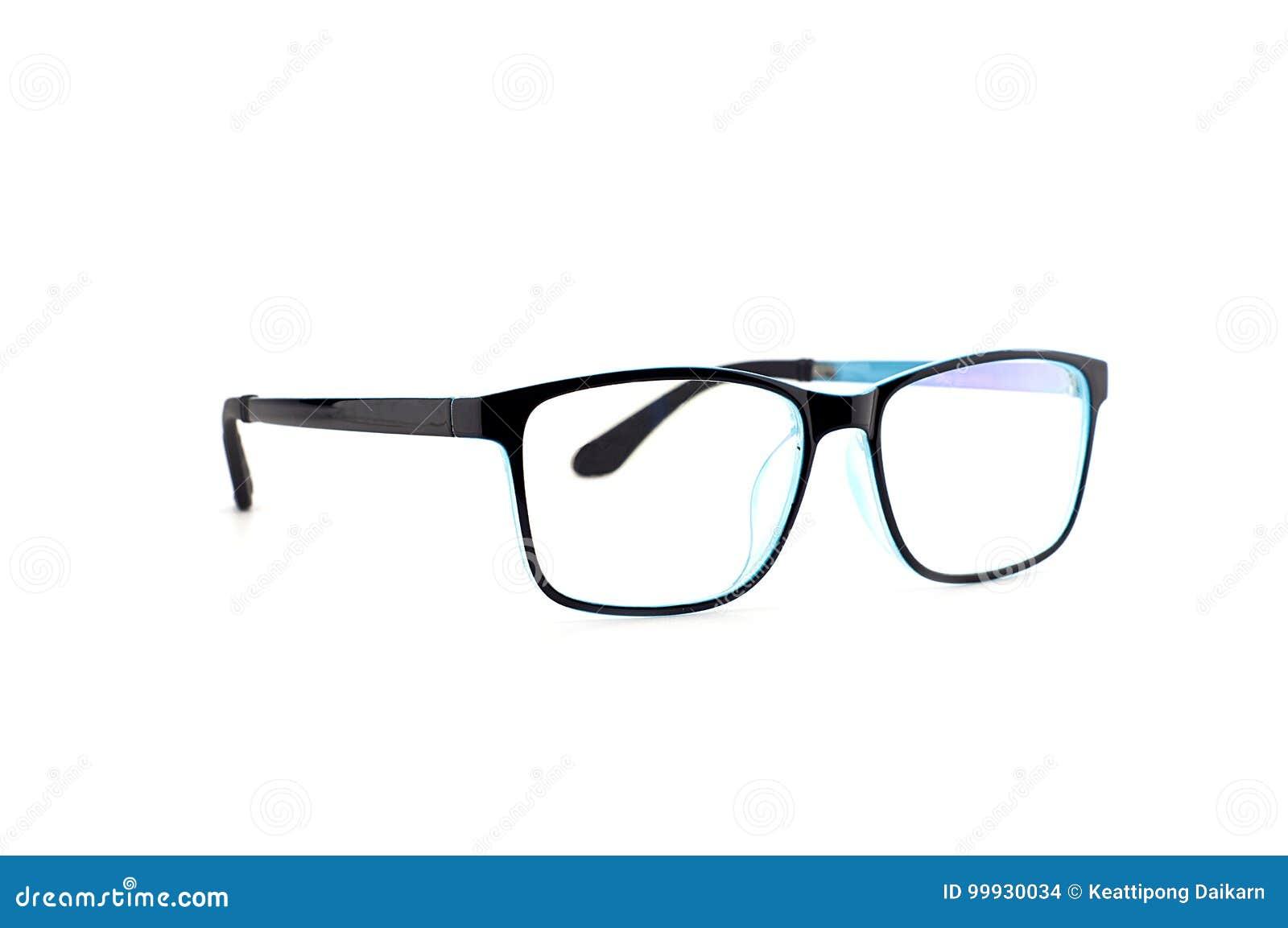 Black Eye Glasses Isolated On White Background Stock Photo