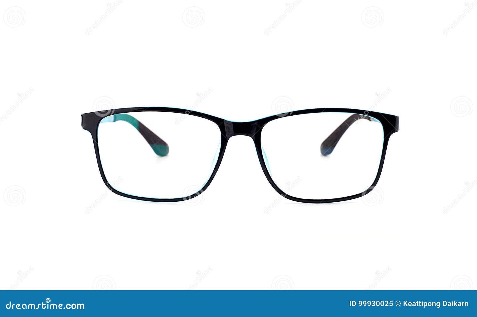 Black Eye Glasses Isolated On White Background Stock Image