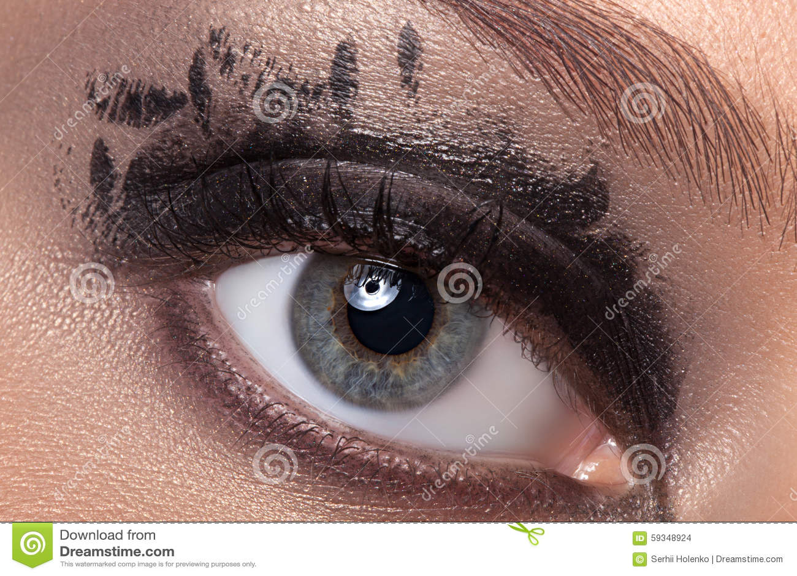 Black Eye Makeup Stock Photo Image Of Make Creative 59348924