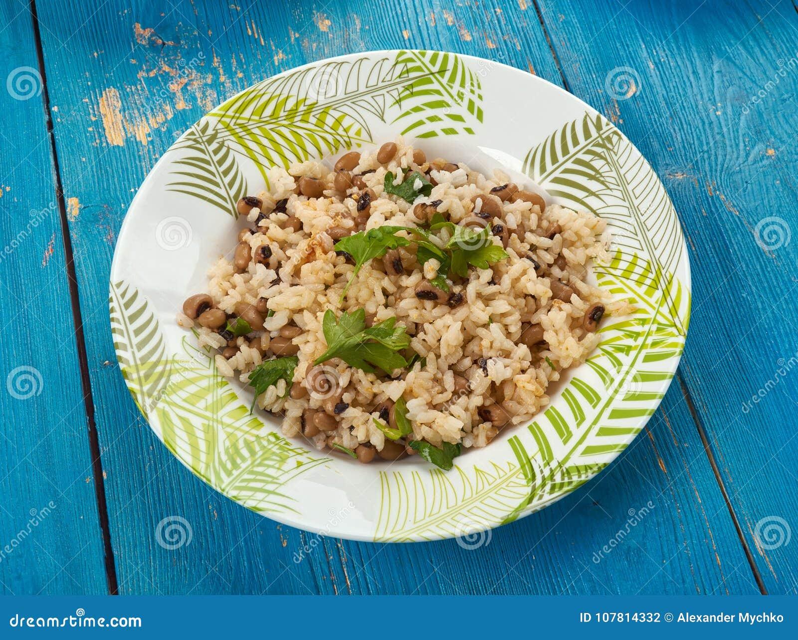 Black Eyed Peas y arroz