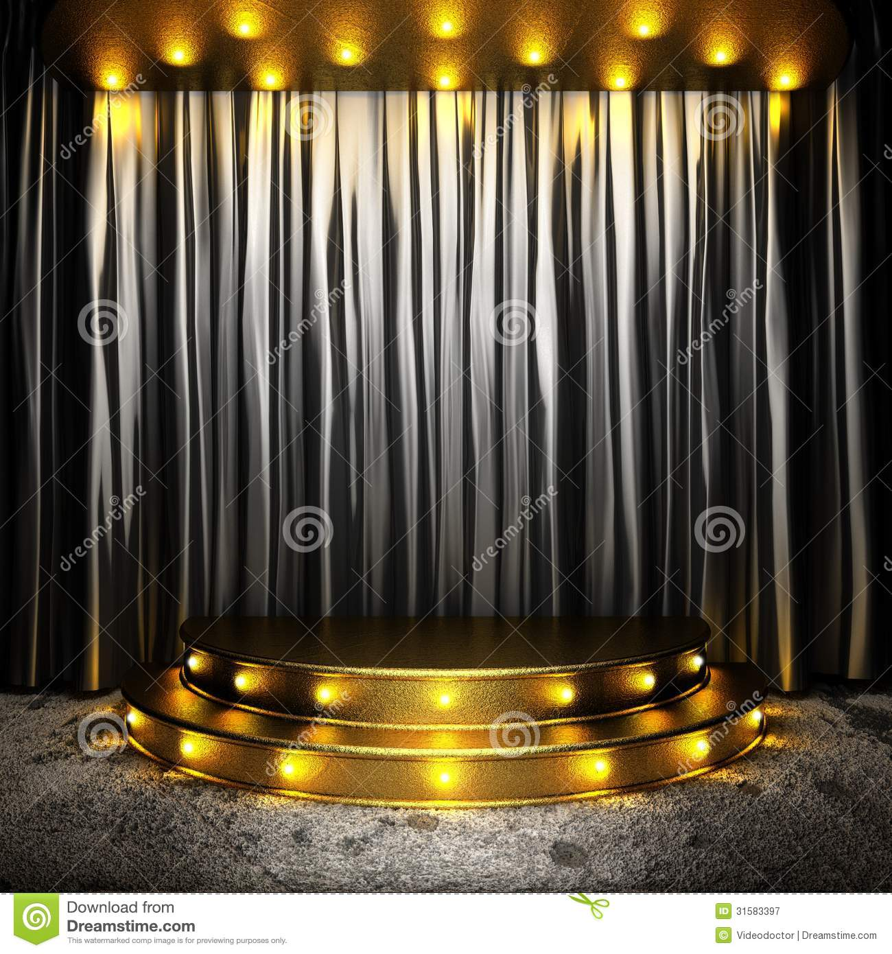 Black stage curtains black stage curtain - Royalty Free Stock Photo Download Black Fabric Curtain On Golden Stage