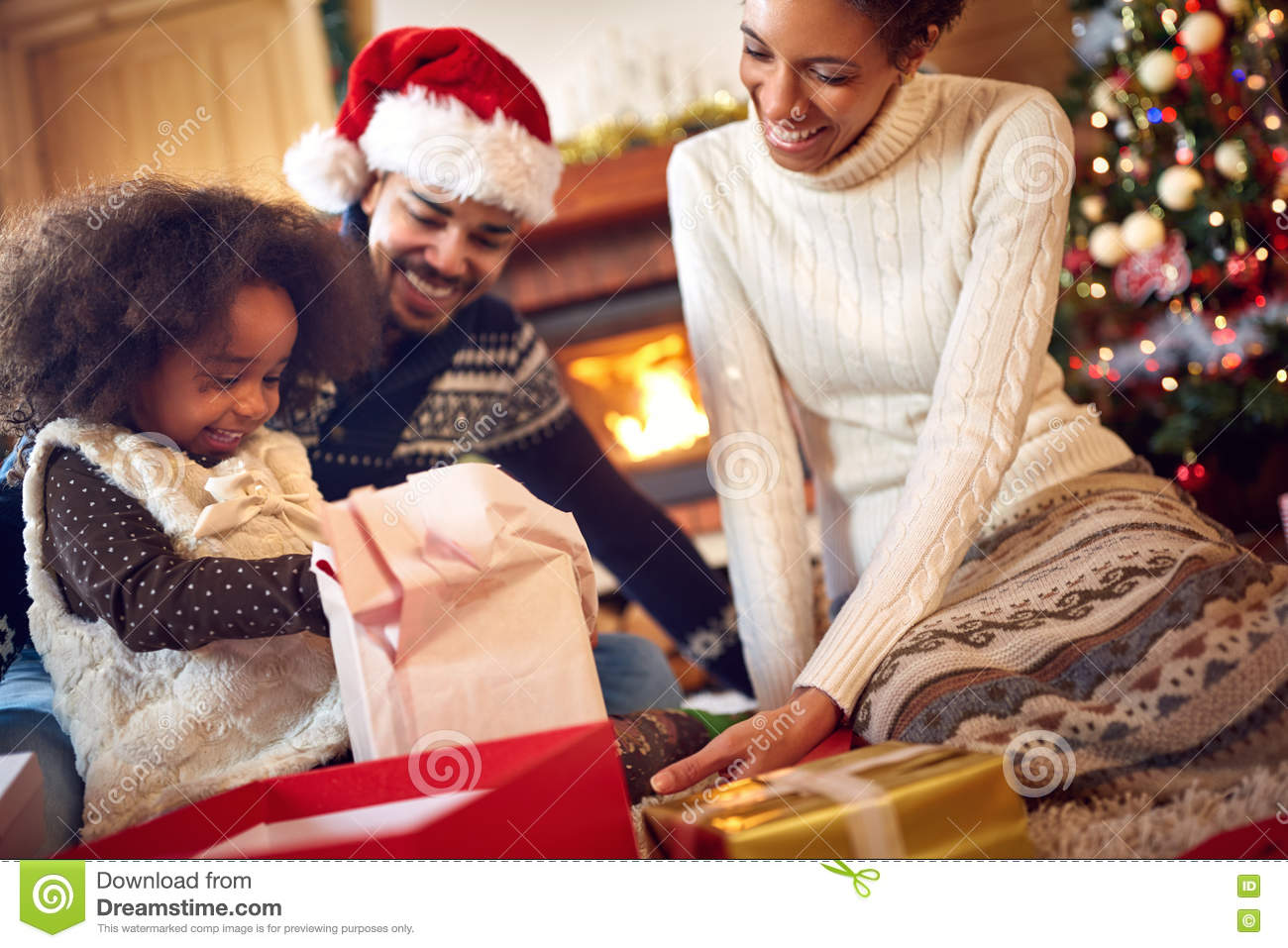 black family together for christmas - Black Family Christmas Pictures