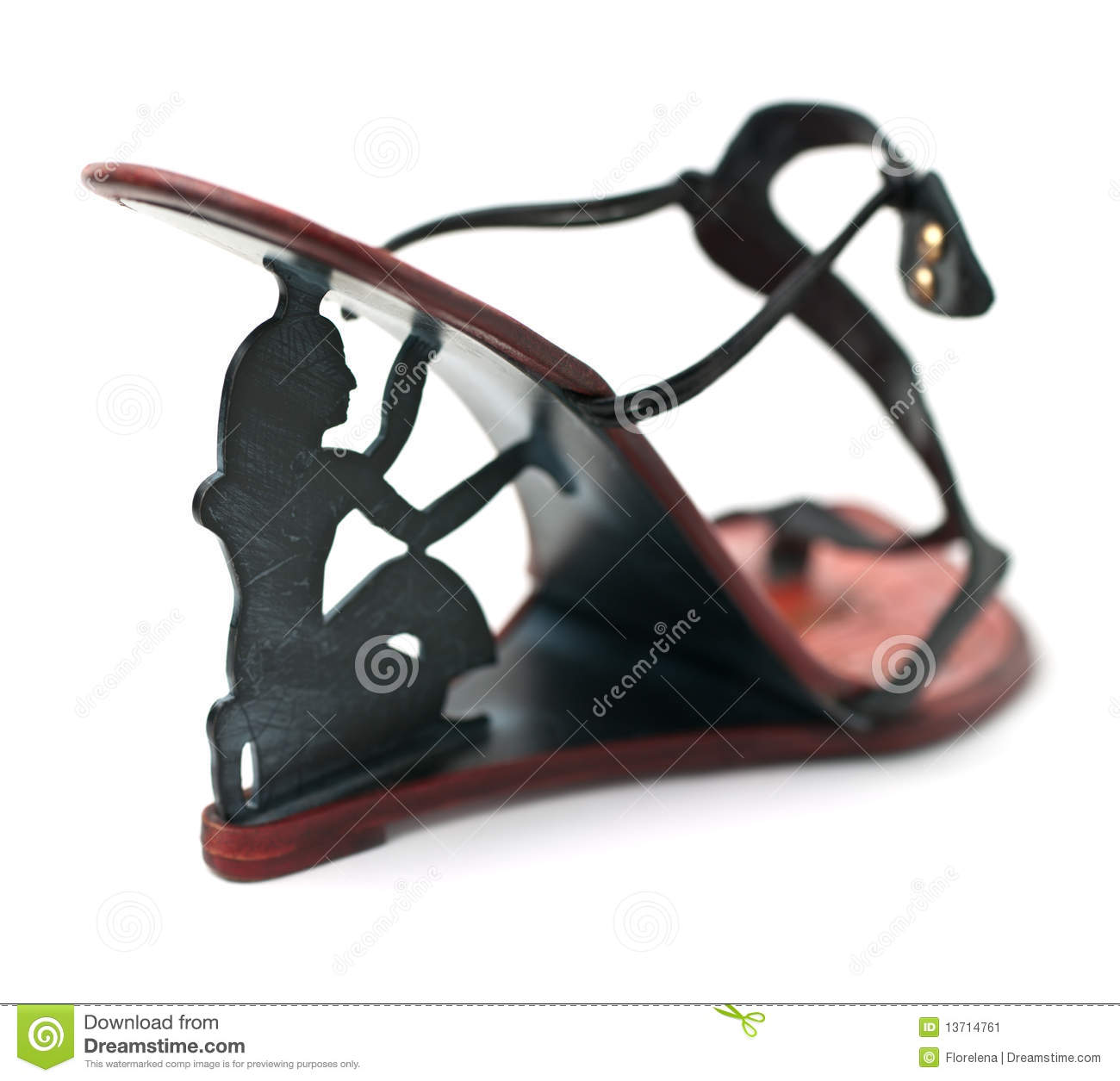 Stock Image: Black fashion high heels shoe
