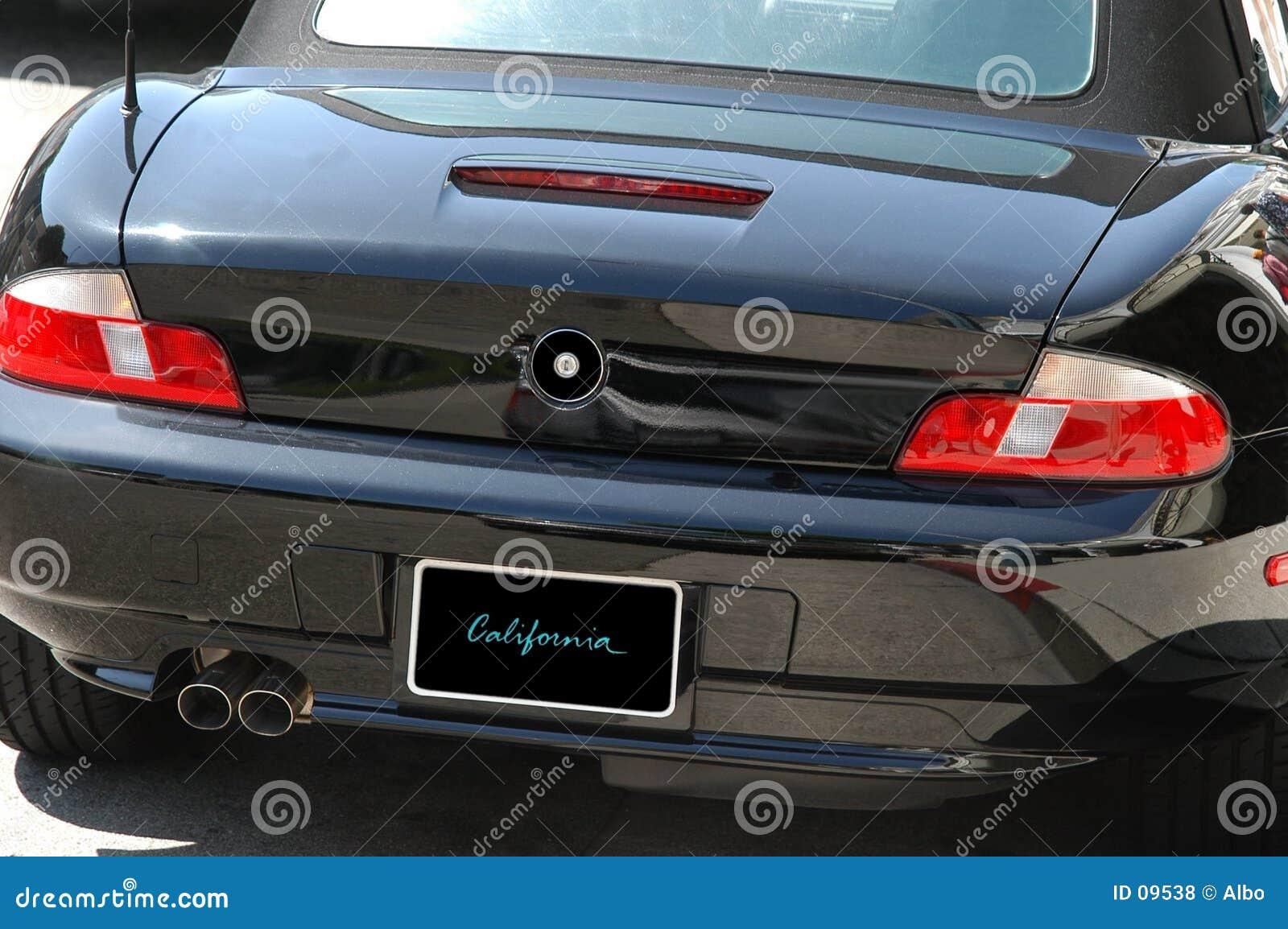 Black fast car