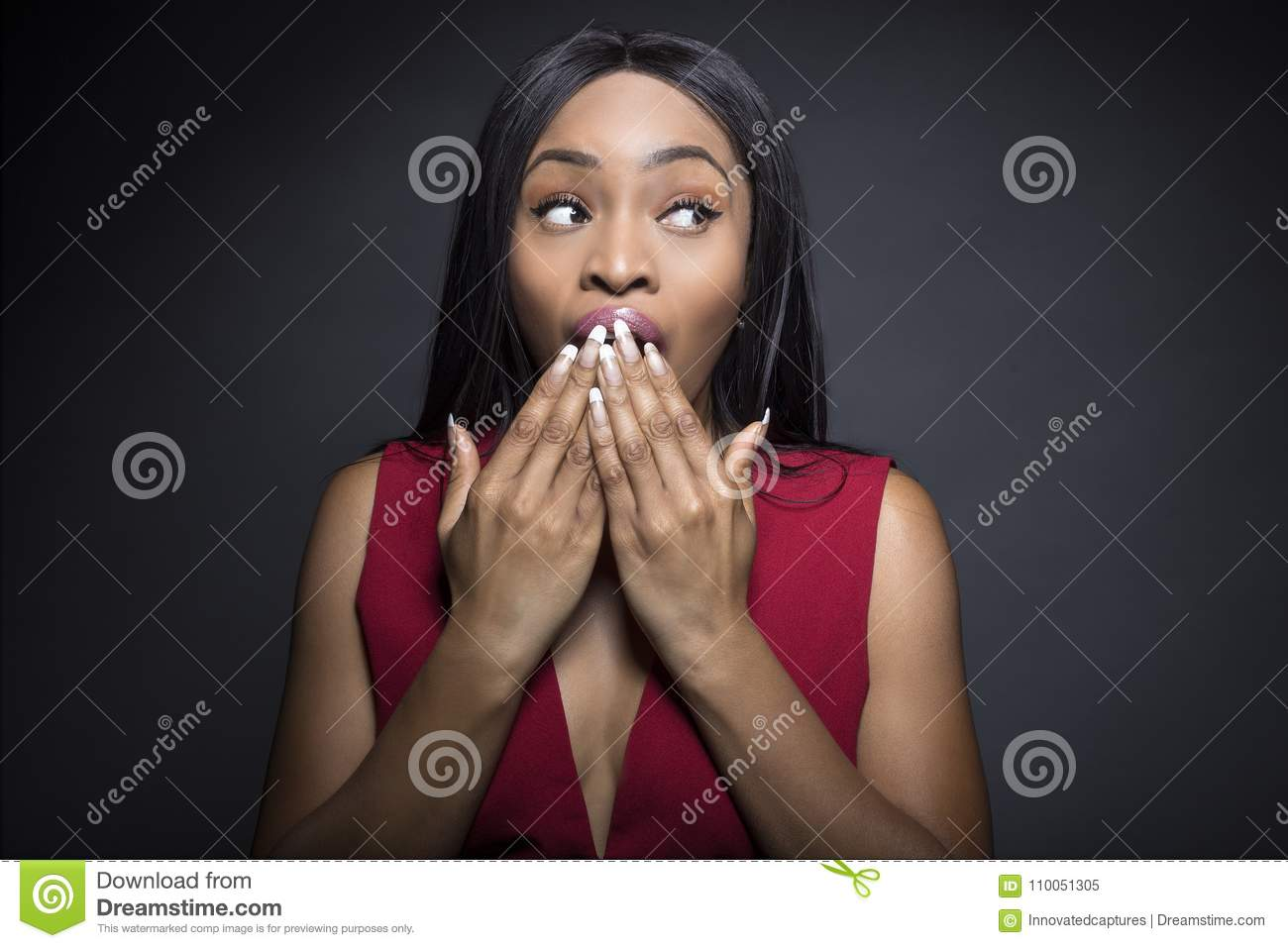 Black Female with Shocked Expressions