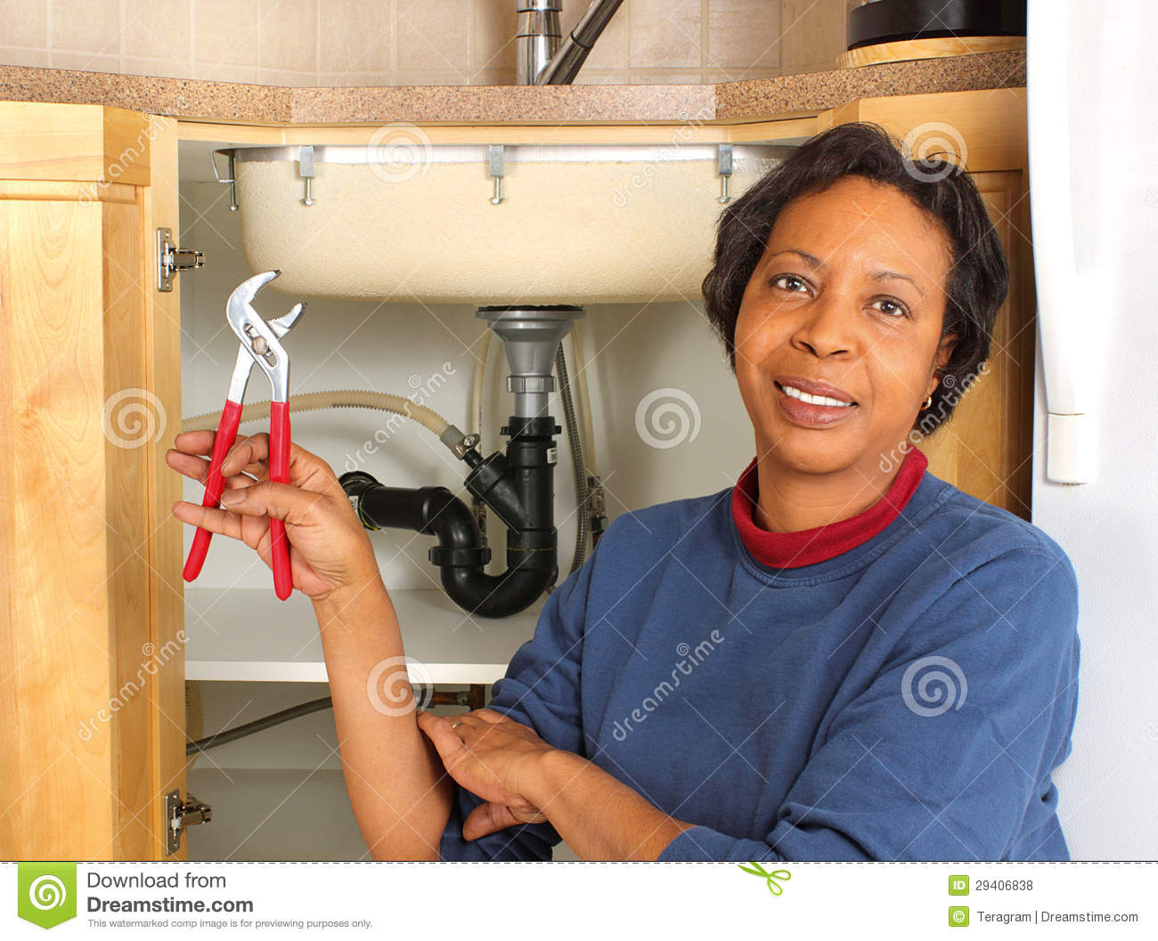 Black Female Plumber Royalty Free Stock Photos Image 29406838