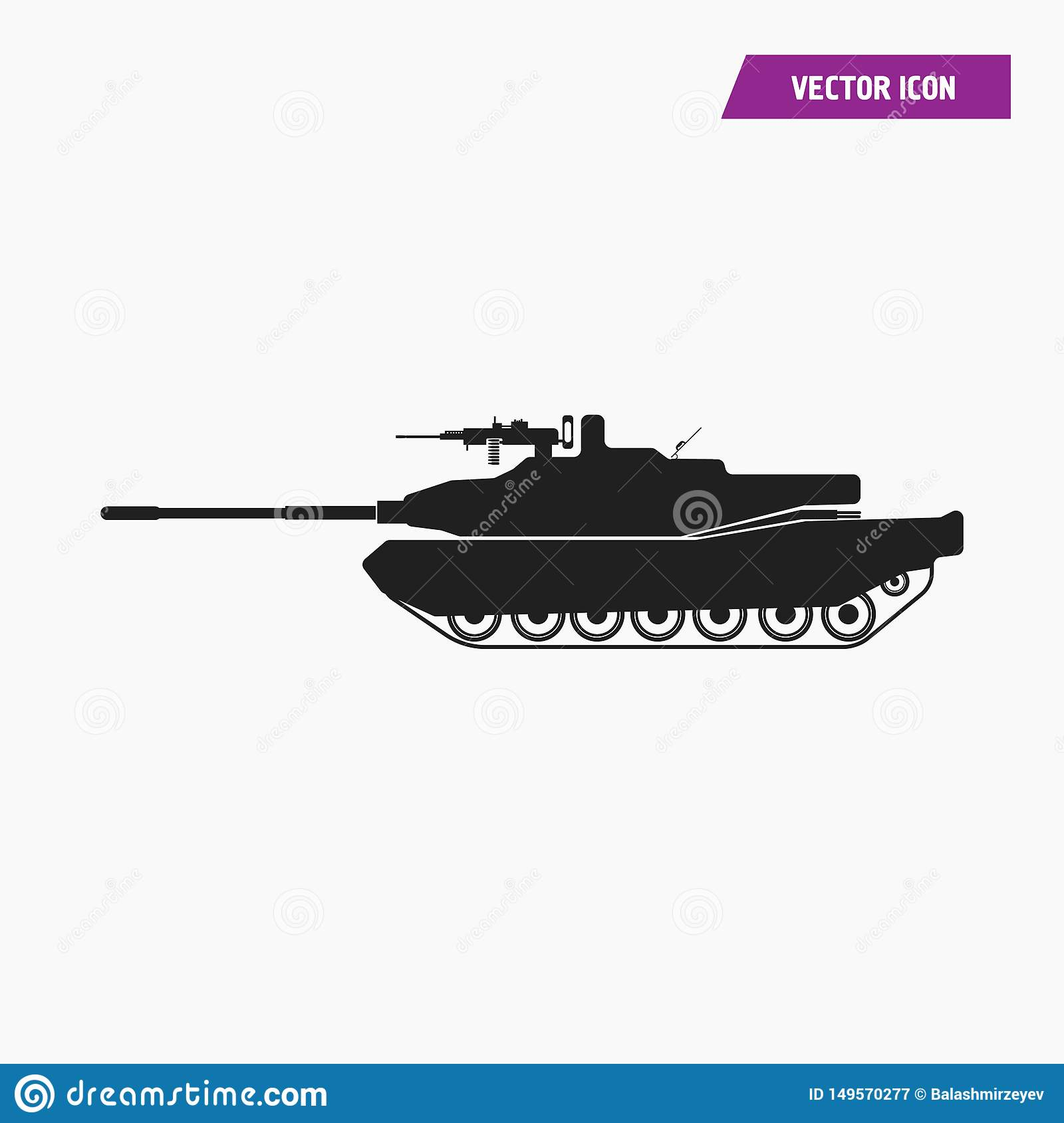 black filled artillery military tank icon stock vector illustration of attack russian 149570277 dreamstime com