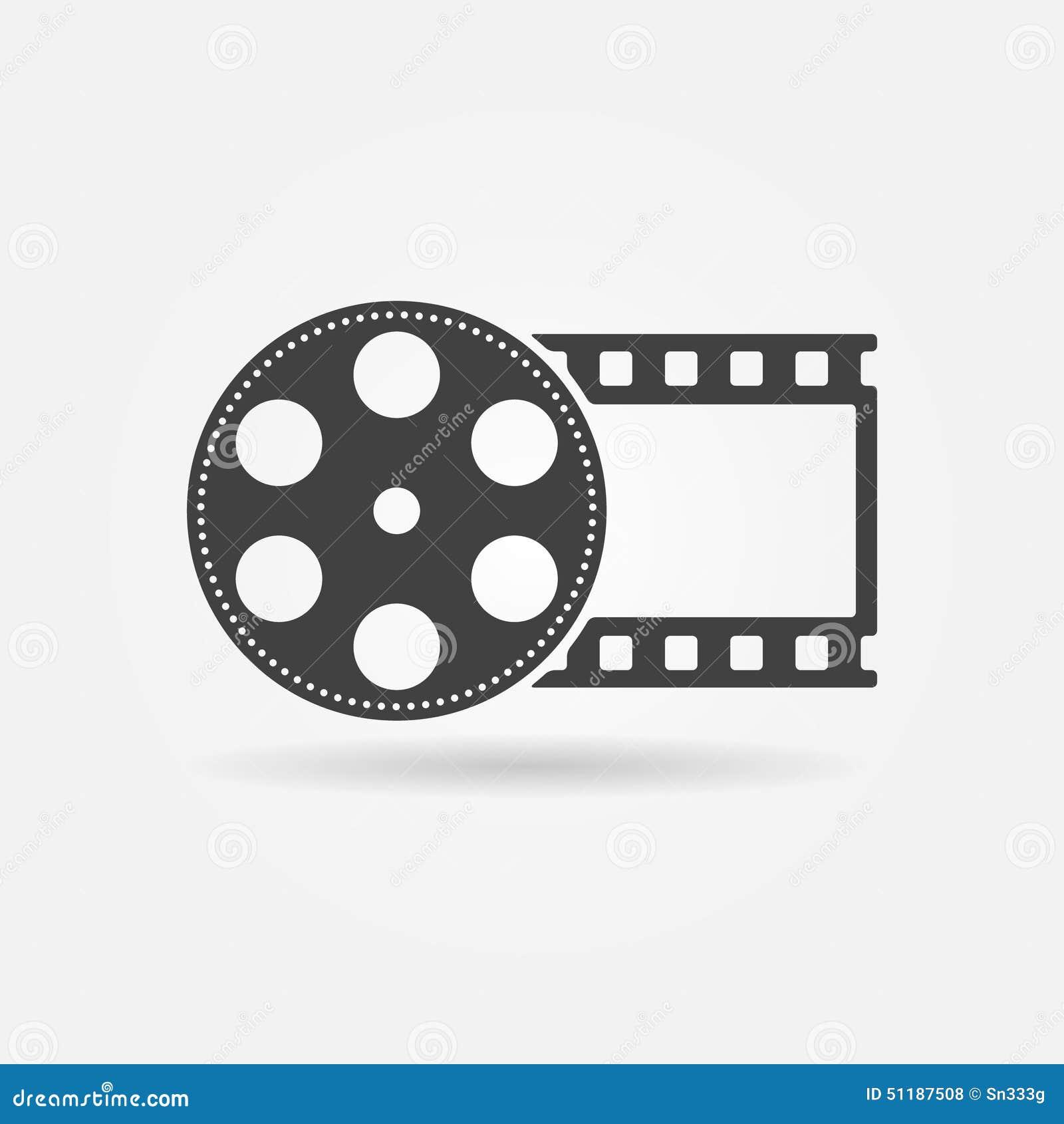 black film roll logo or icon stock vector illustration Lights Camera Clip Art Roll Clipa Art Camera