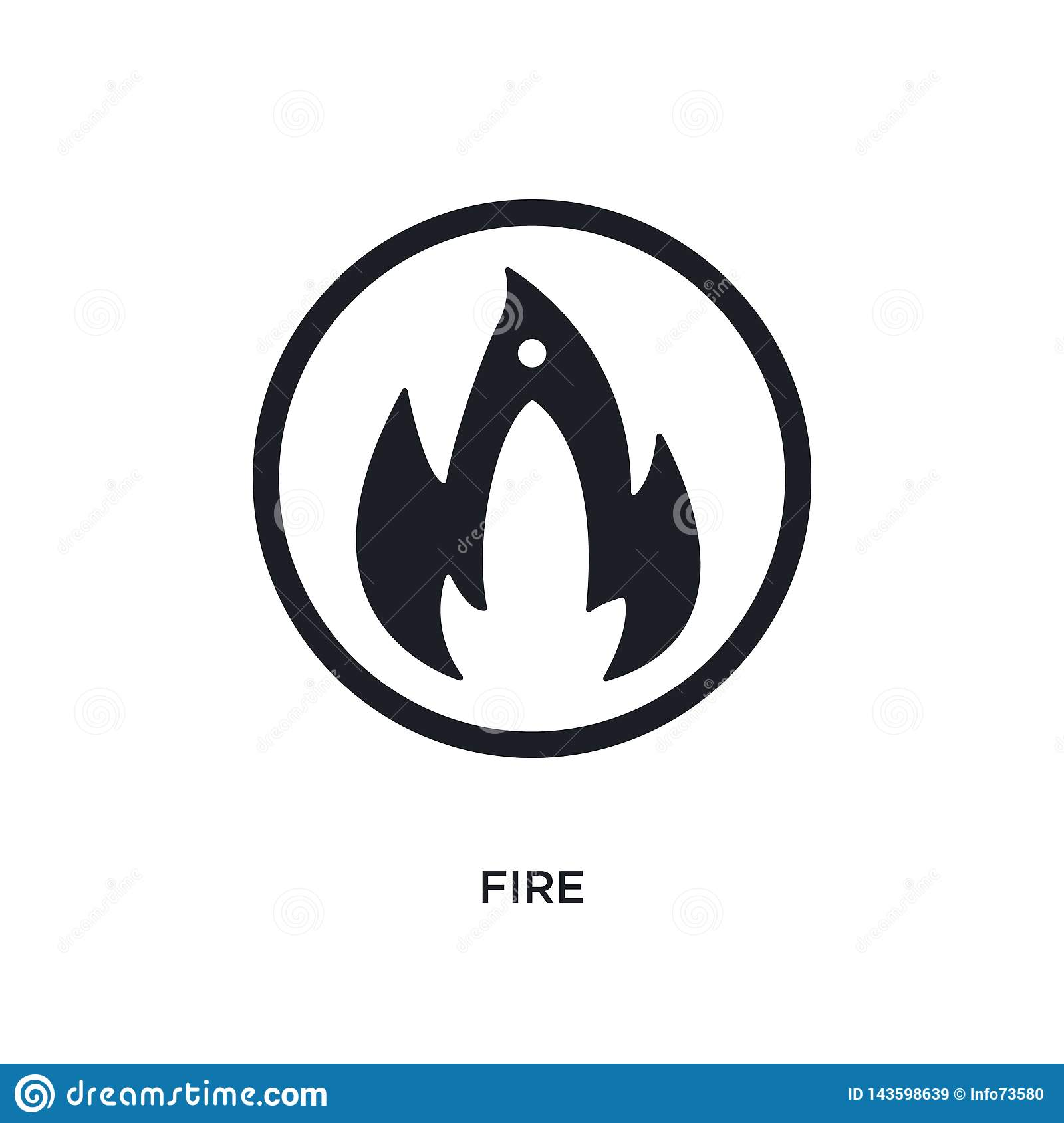 black fire isolated vector icon. simple element illustration from traffic signs concept vector icons. fire editable logo symbol