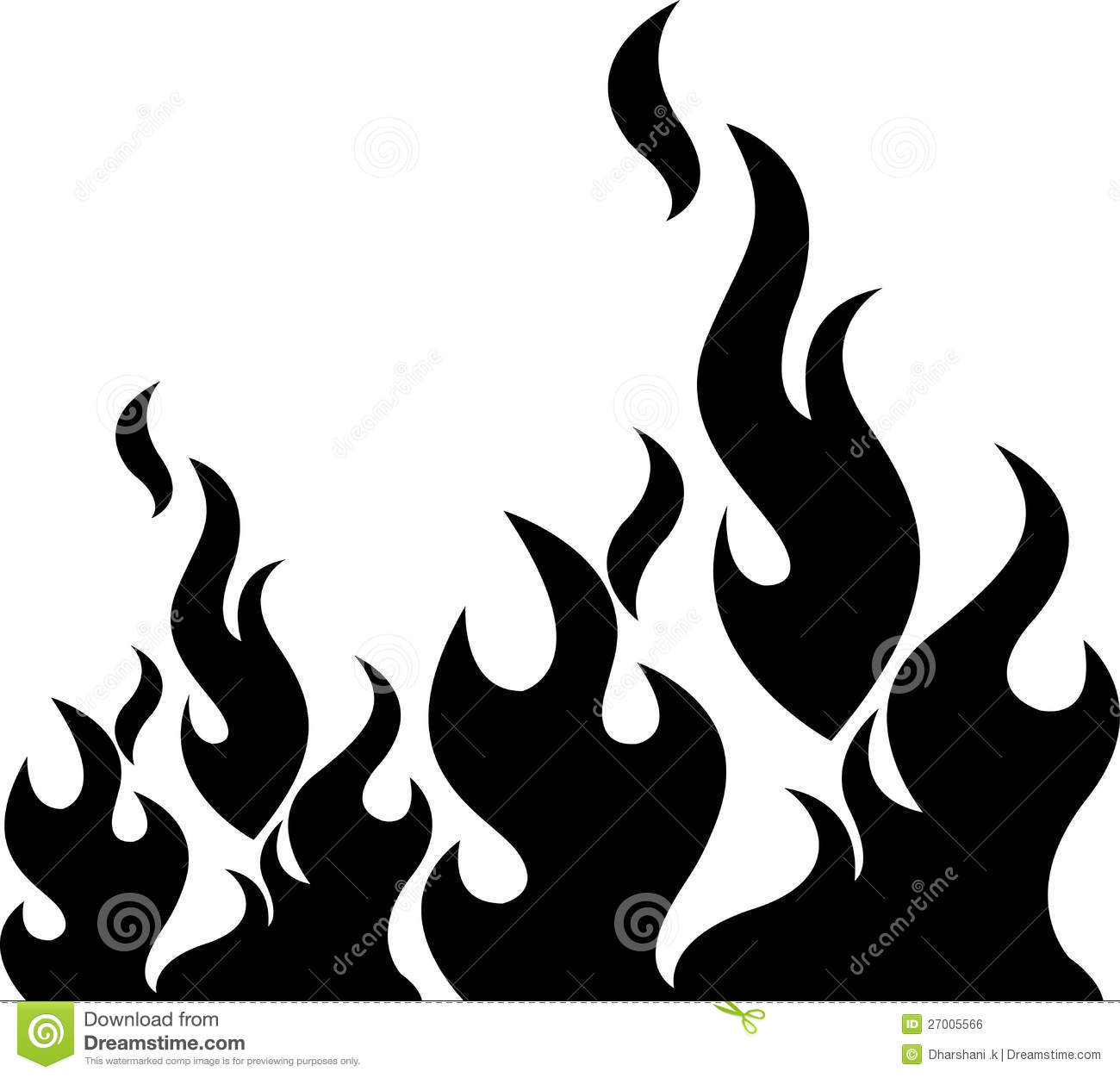 Black flame stock vector. Image of abstract, artwork ...