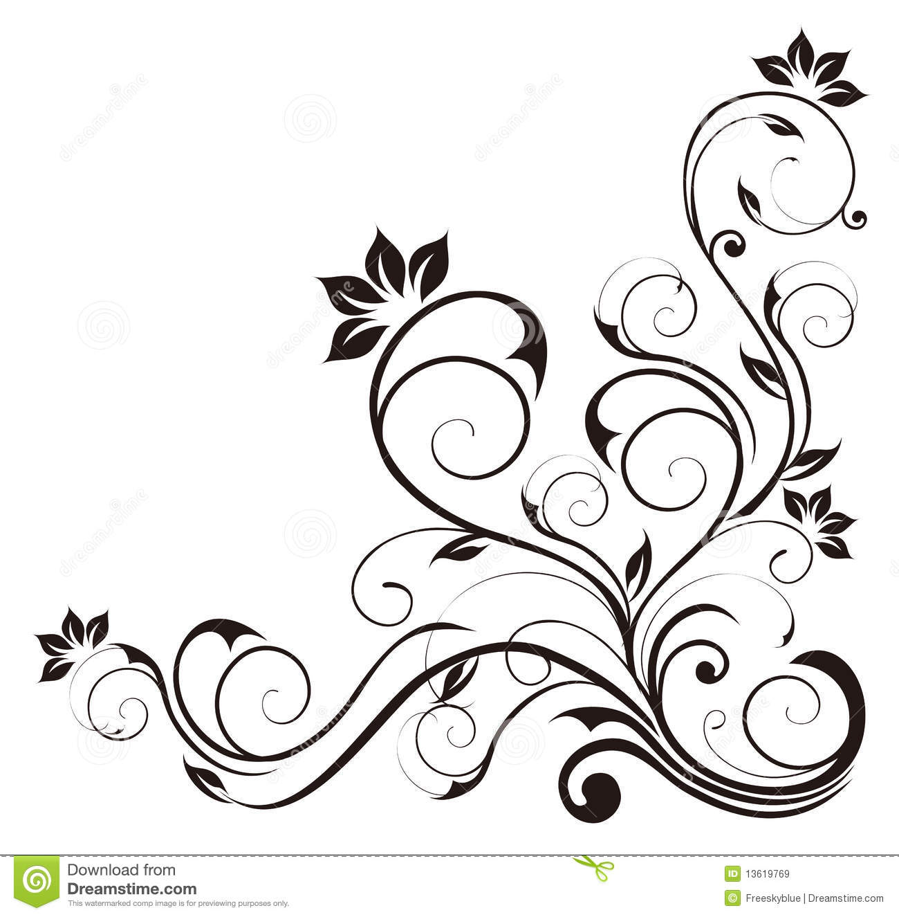 Black Flower Silhouette Pattern Royalty Free Stock Images: Black Flower Pattern Royalty Free Stock Images