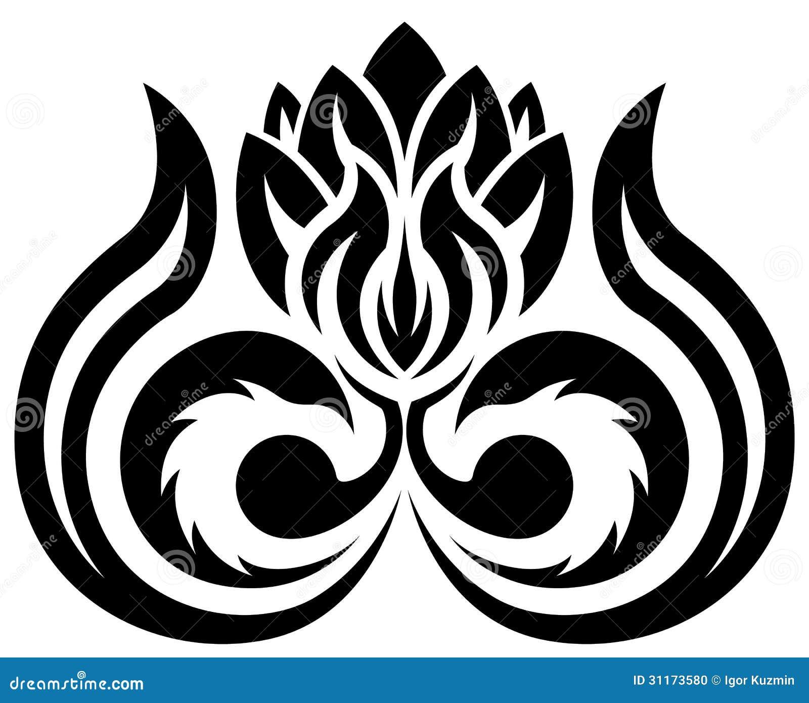 Black Flower Free Vector Download 16 295 Free Vector For: Black Flower Silhouette Stock Vector. Illustration Of