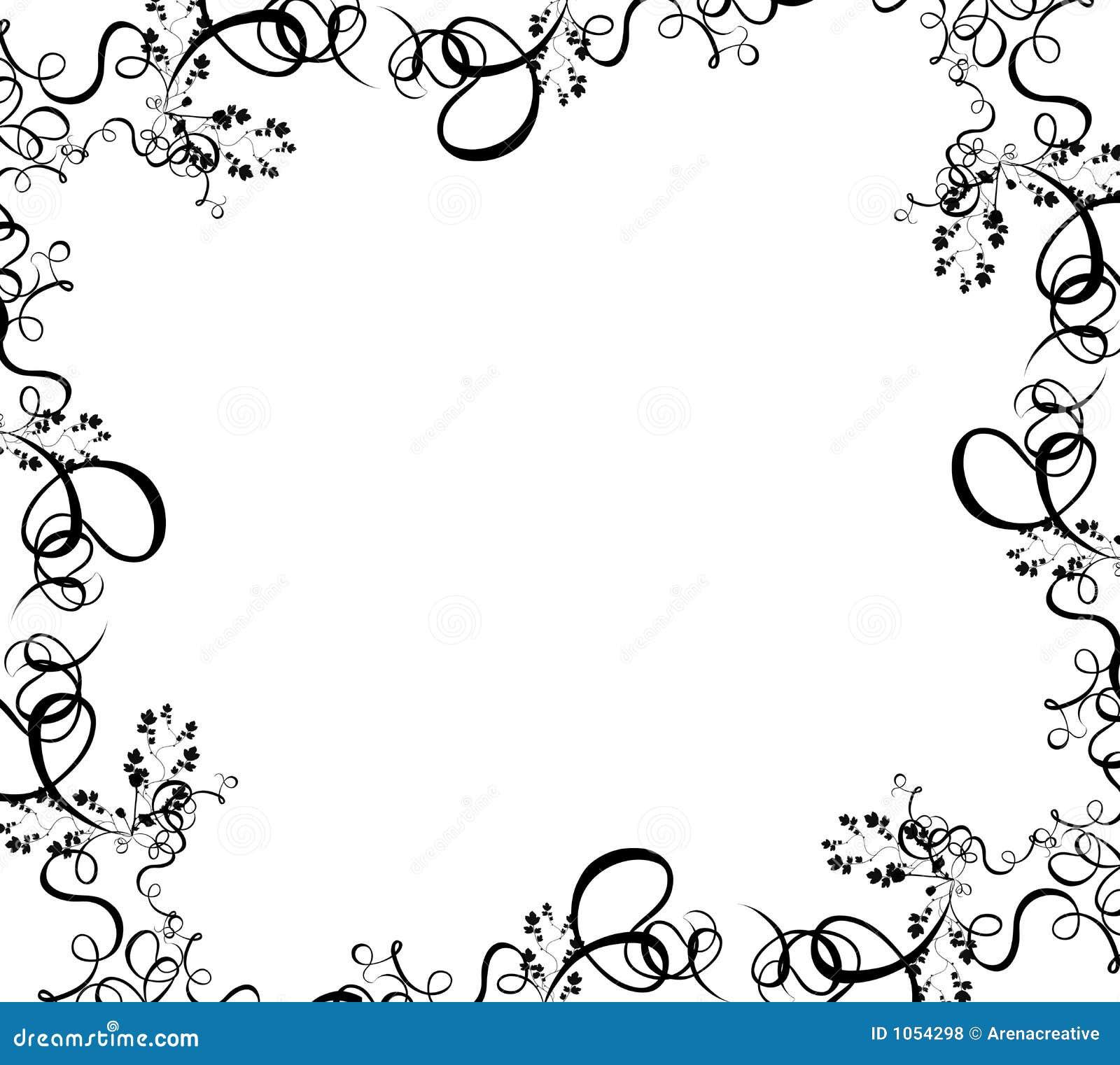 Black Foliage Border Stock Illustration Illustration Of Nature