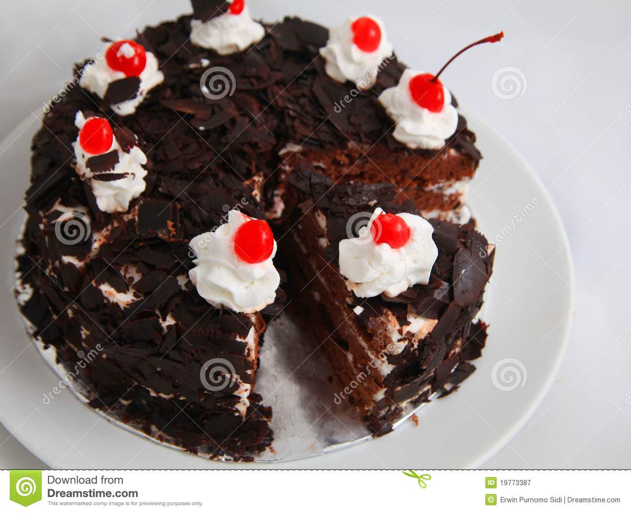 Black Forest Cake Stock Image Image Of Delicious Black