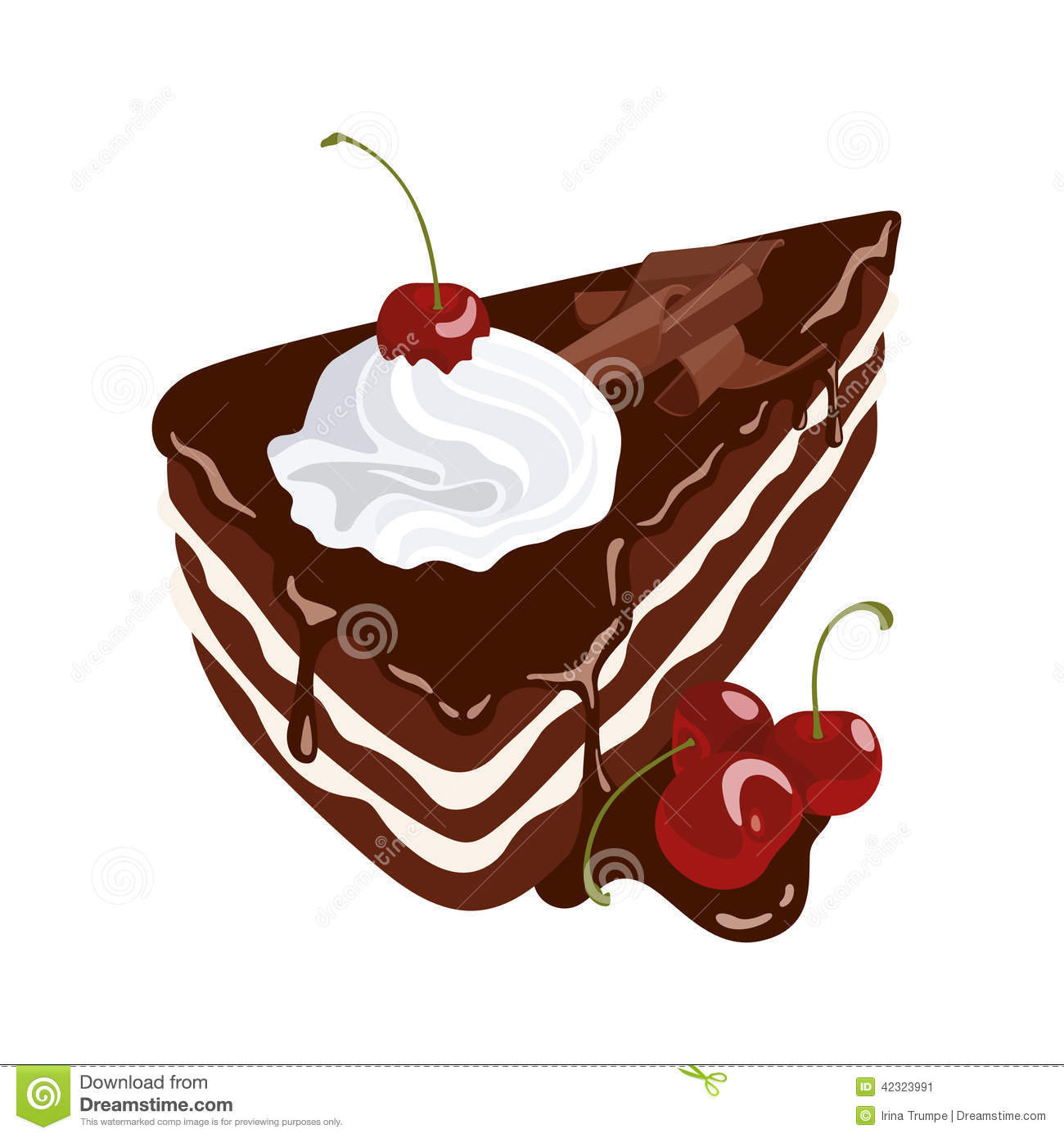 Black Forest Cake Stock Vector Image 42323991