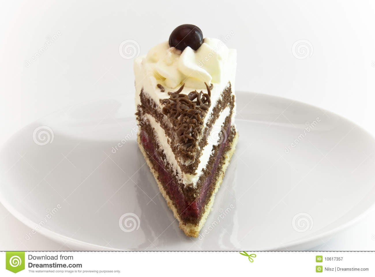 Black Forest Cake Piece Royalty Free Stock Photography ...