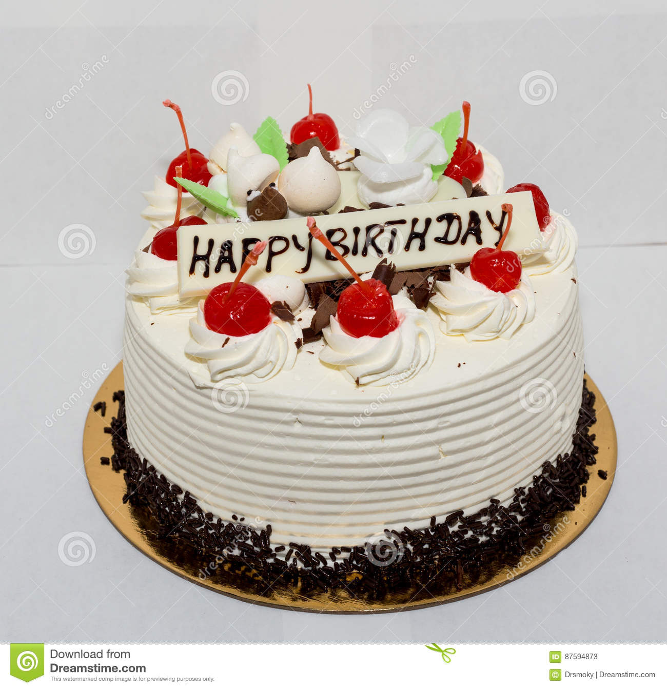 Black Forest Cake Stock Image Image Of Party Happy 87594873
