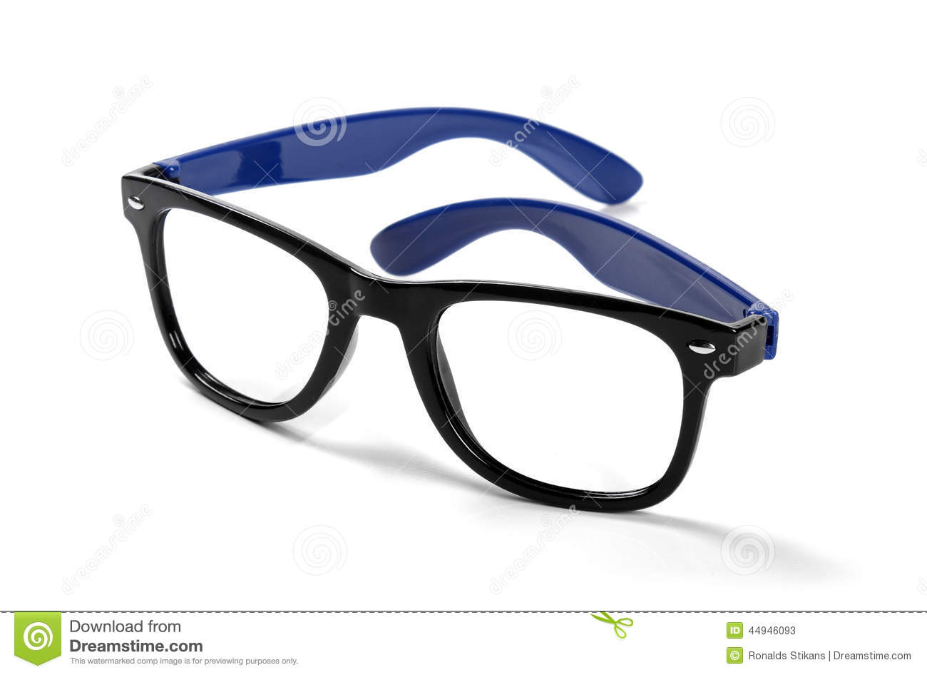Black Frame Hipster Eyeglasses Isolated On White Stock ...